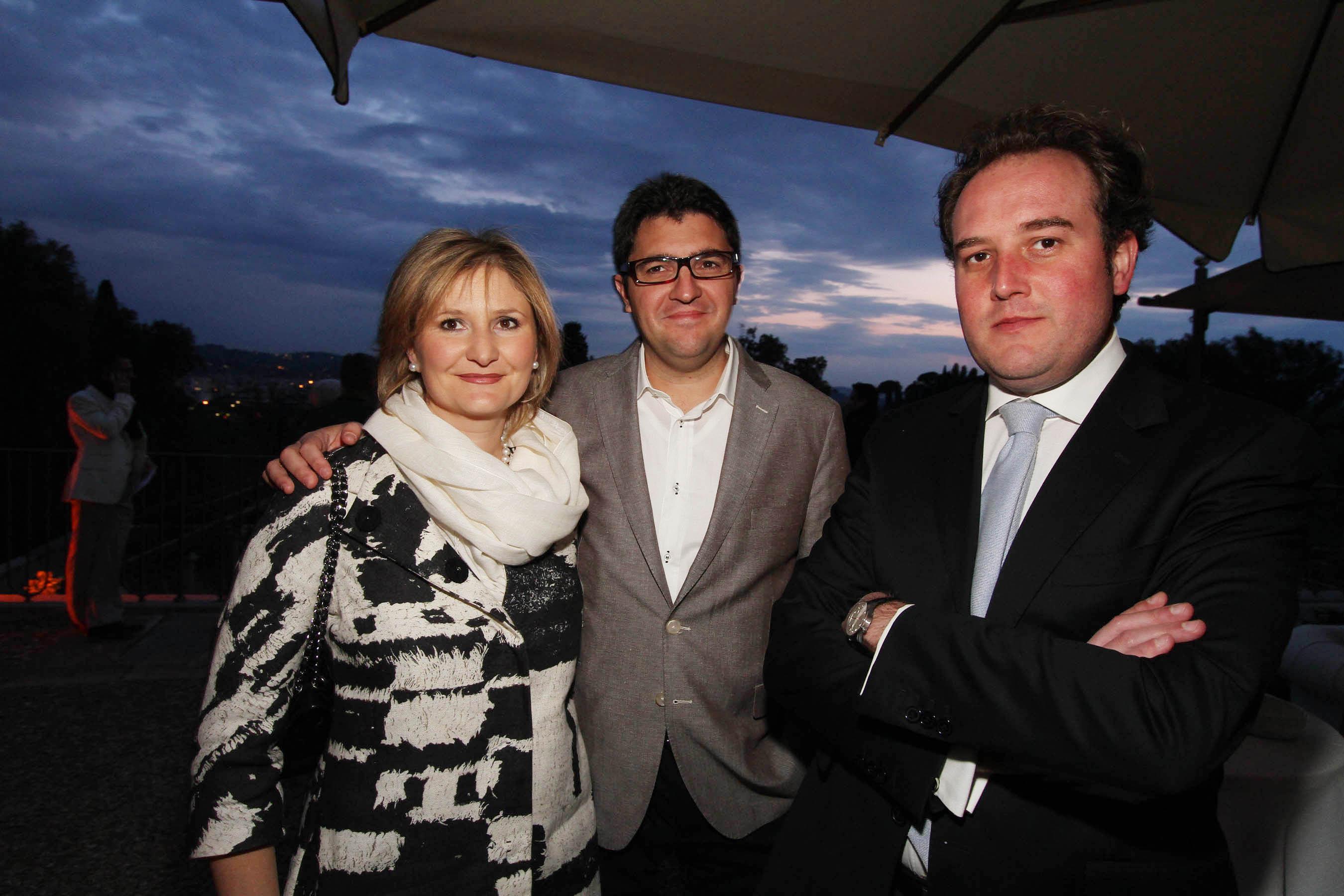 PRESSPHOTO Firenze, festa Firenze Magazine. Nella foto Adriana Basso, Simone Dal Sie e Paolo Sabadin