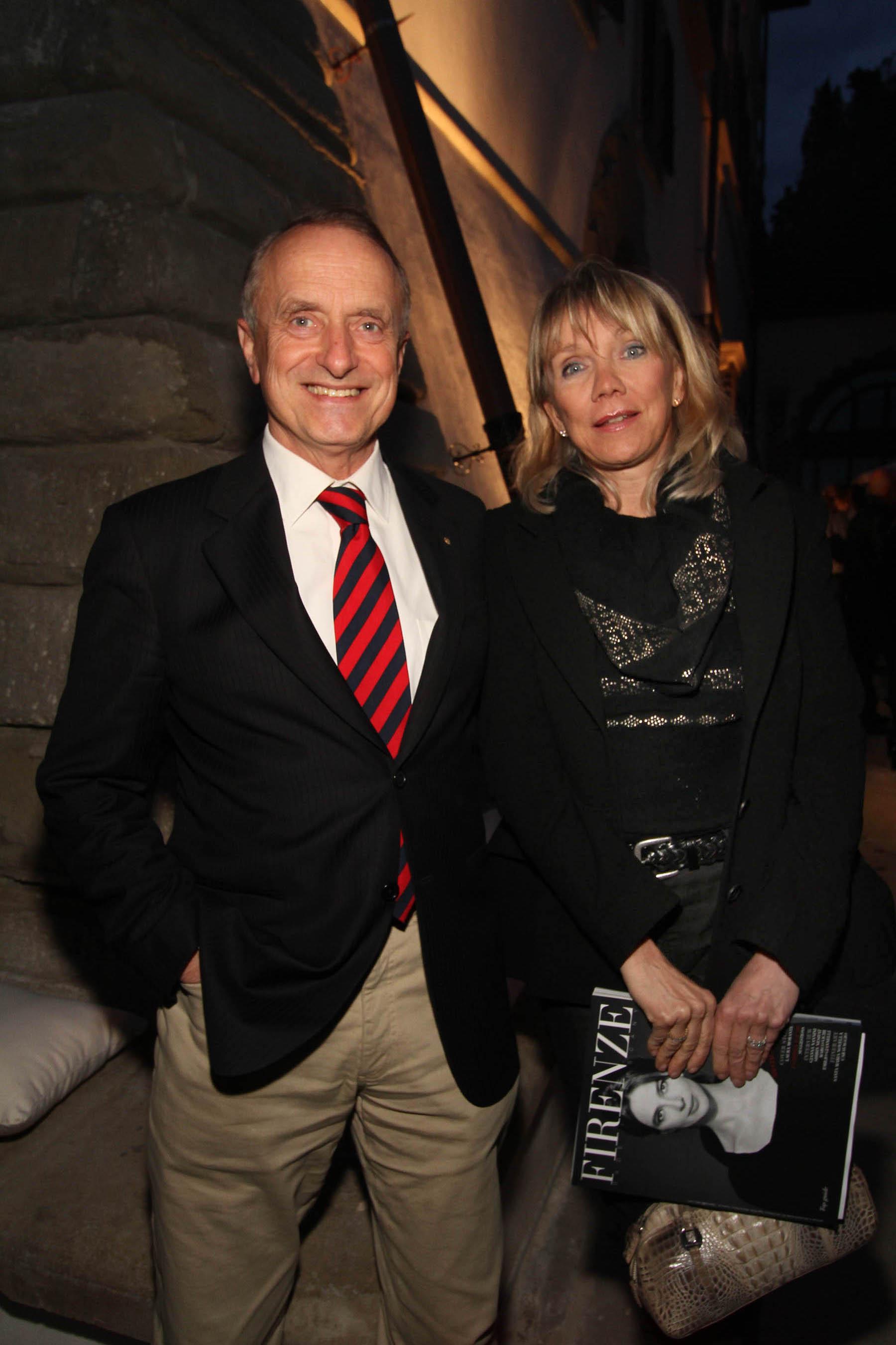 PRESSPHOTO Firenze, festa Firenze Magazine. Nella foto Mario ed Evelyn Razzanelli