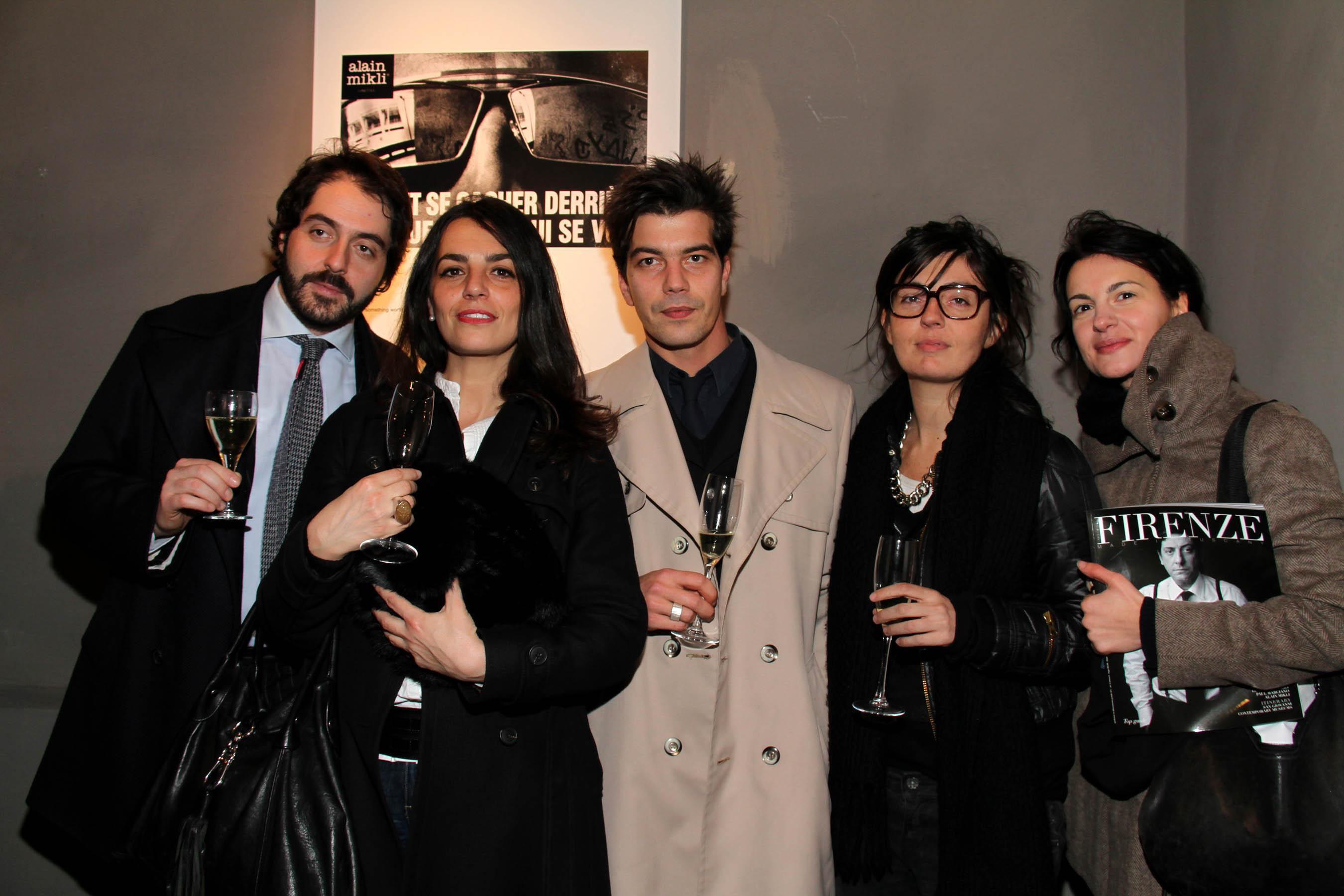 PRESSPHOTO Firenze, festa Firenze Magazine #13, For Gallery. Nella foto Francesco Visani, Serena Astorri, Rudi Ulivi, Daniela Murri e Giovanna Imbimbo