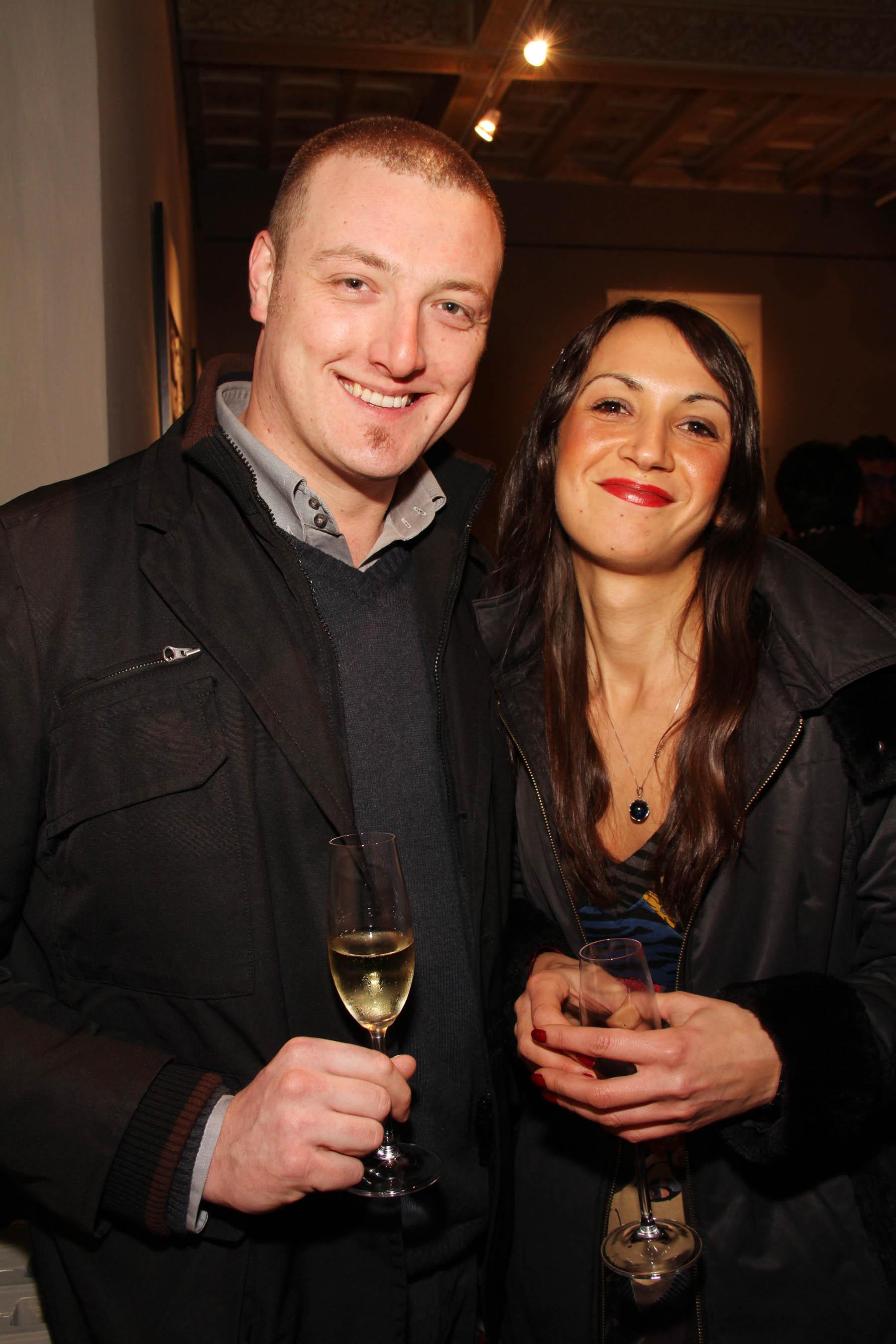 PRESSPHOTO Firenze, festa Firenze Magazine #13, For Gallery. Nella foto Martina Piccioni e Giuliano Mechelli