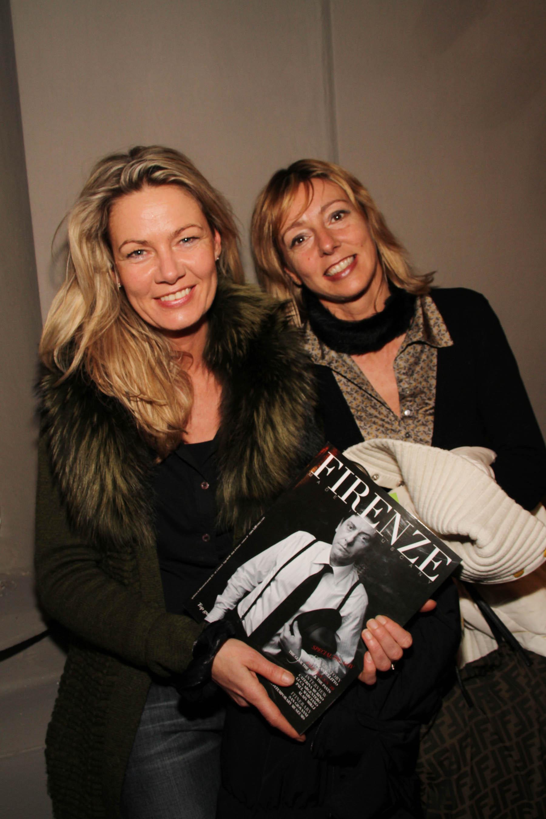 PRESSPHOTO Firenze, festa Firenze Magazine #13, For Gallery. Nella foto Tania Kolibius e Rossana Luzzi