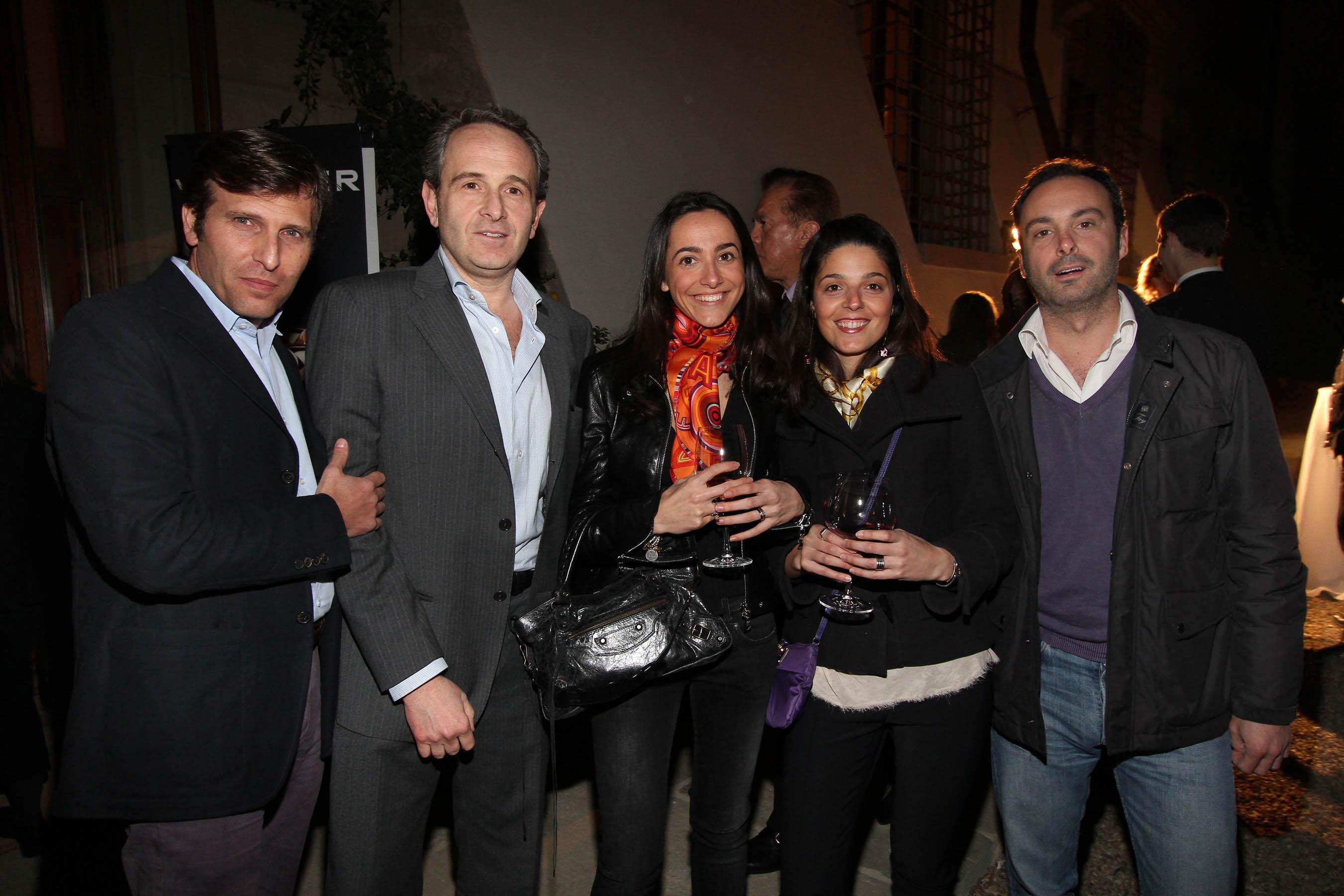 PRESSPHOTO Firenze, festa Firenze Magazine. Nella foto Lorenzo Galli, Lorenzo Bulgarini, Irene Rossi, Camilla Salvago, Andrea Caciotti