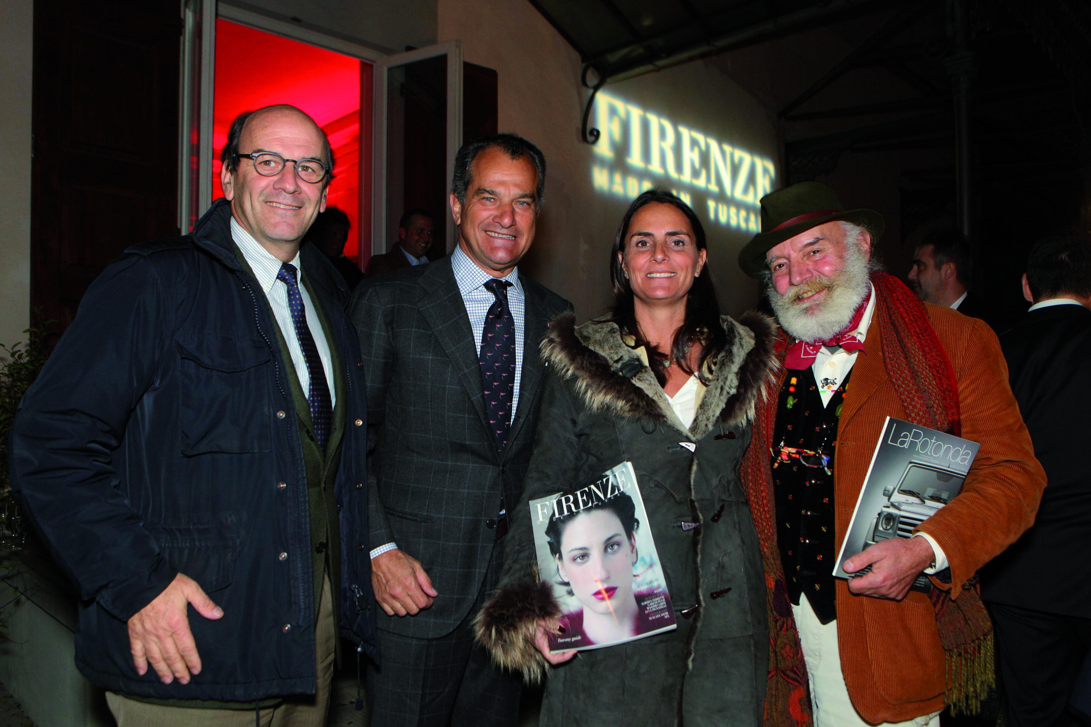 Pressphoto,Firenze Villa Bardini Festa Firenze Magazine.nella foto:  Raffaele Napoleone e signora, Leonardo Ferragamo, Vanni de Filippo