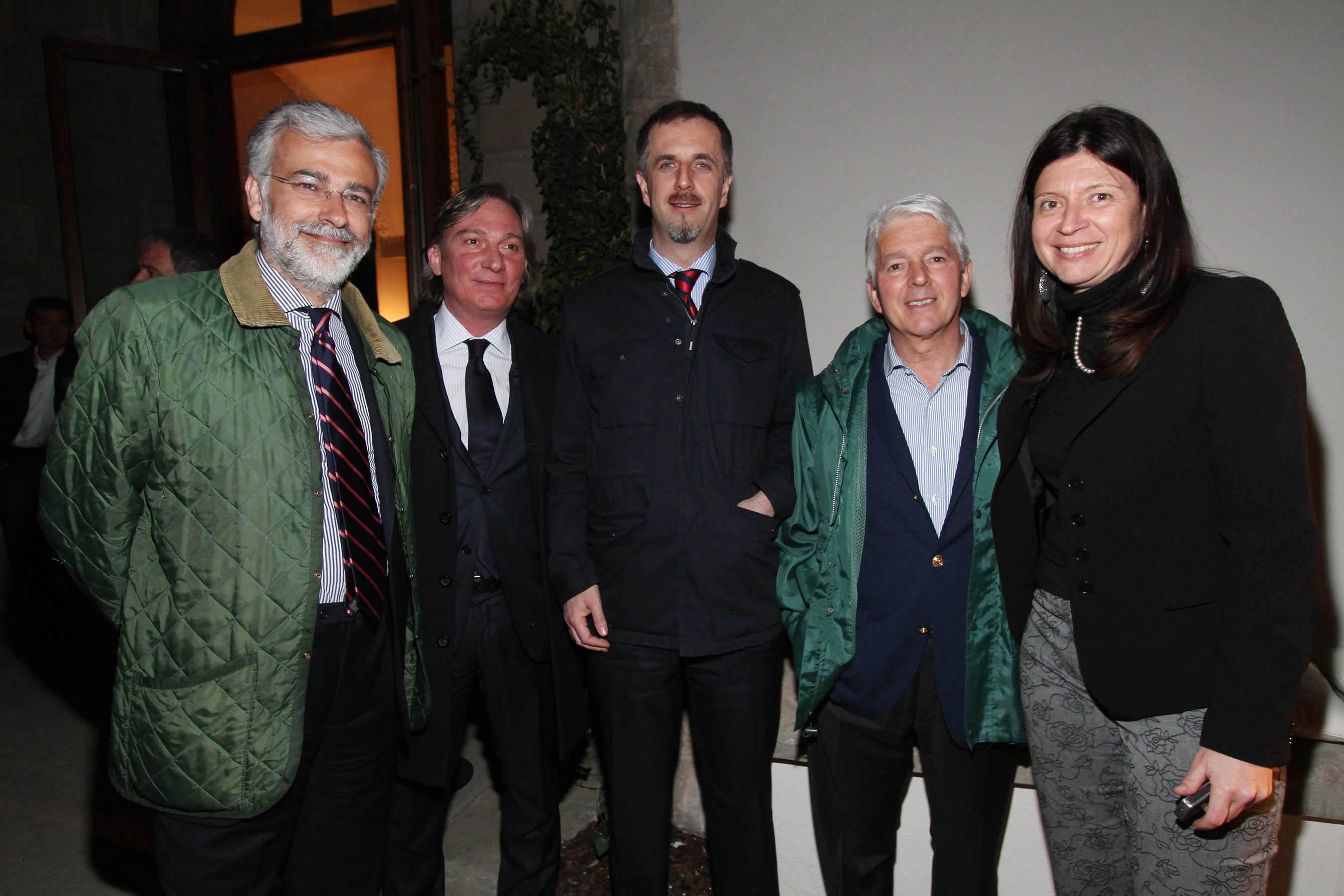 PRESSPHOTO Firenze, festa Firenze Magazine. Nella foto Jacopo Tozzi, Roberto Franceschi, Alessandro Tarducci, Luciano Castellucci e Silvia Biagiotti