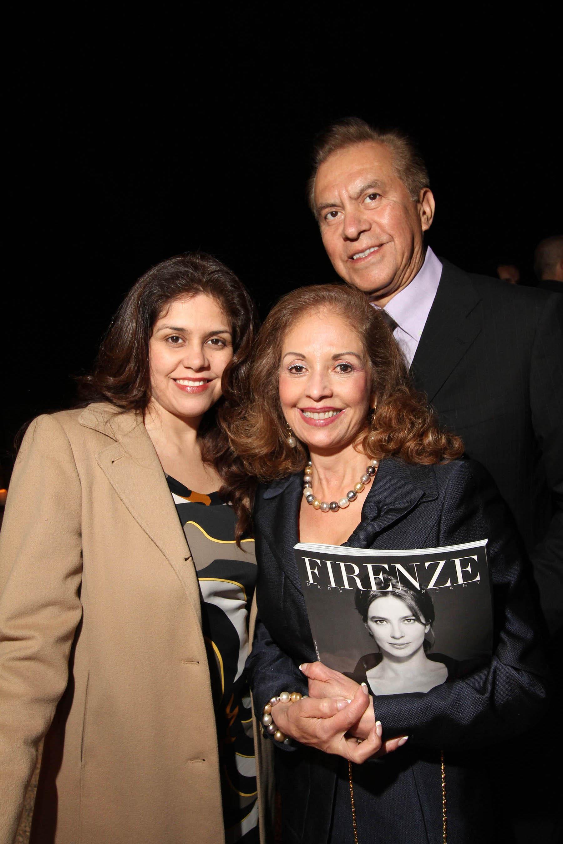 PRESSPHOTO Firenze, festa Firenze Magazine. Nella foto  Diana Fontani, Jorge e Martha Martinez