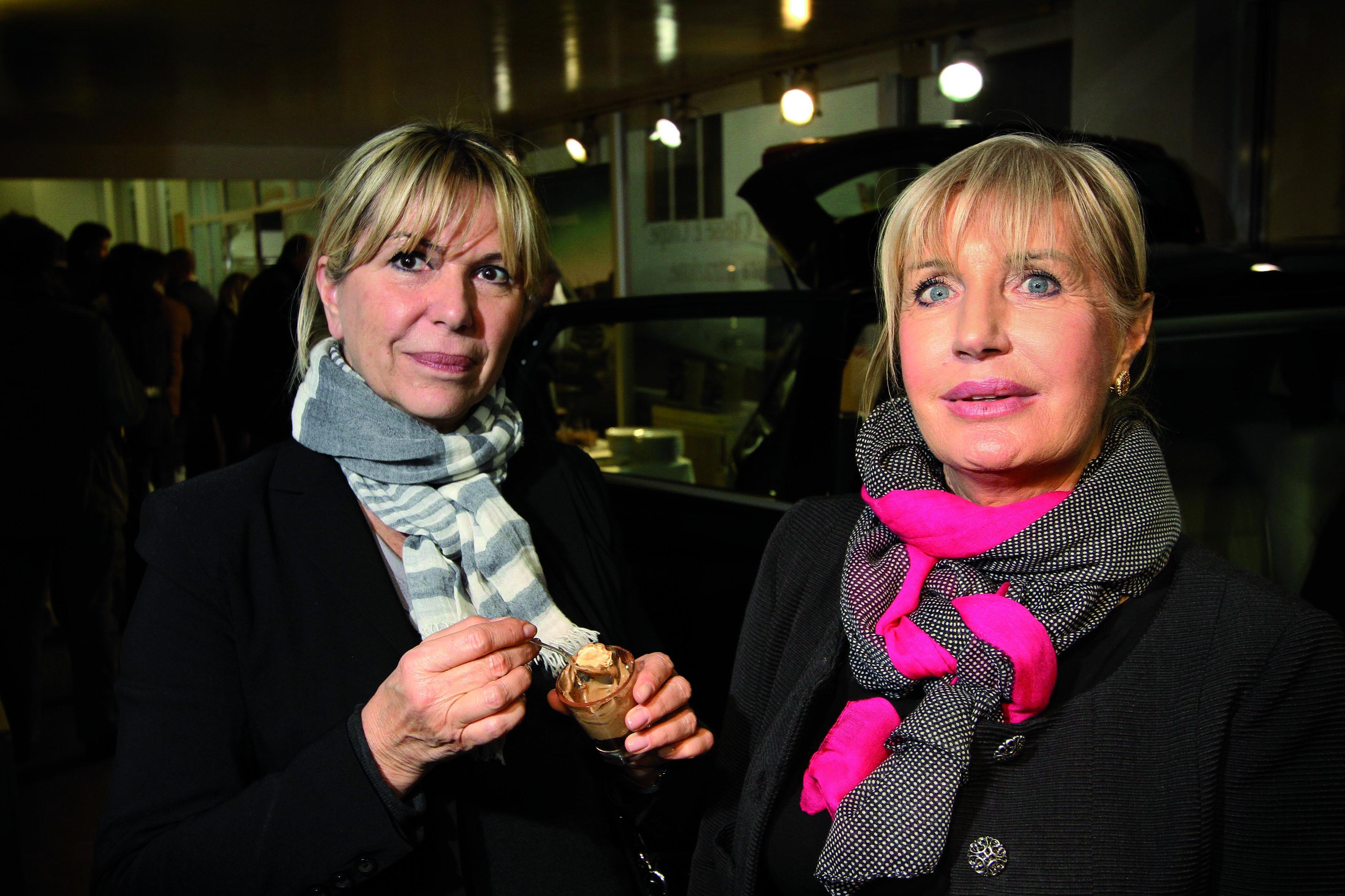 PRESSPHOTO  Firenze Magazine, La Rotonda via Giotto, evento Mercedes: Alba Di Cello e Josiane Grandin
