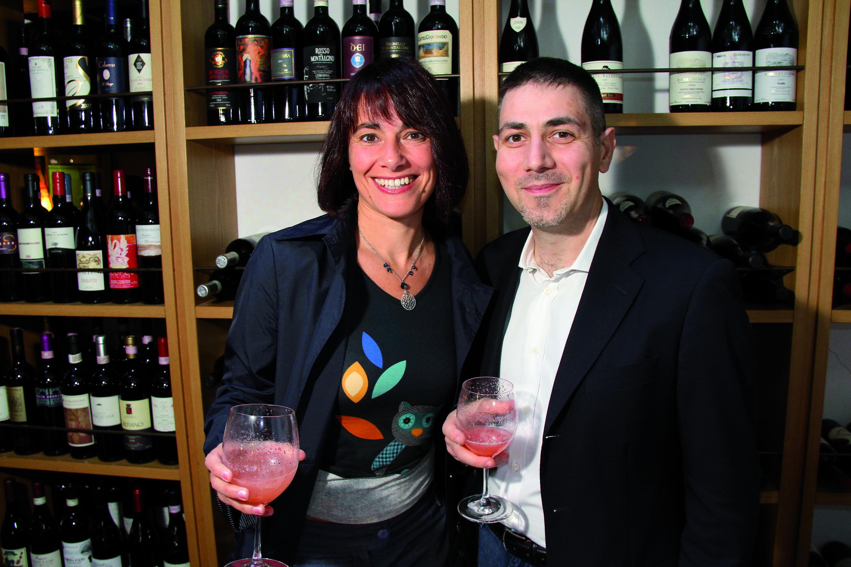 PRESSPHOTO Firenze Magazine;  evento al ristorante Zibibbo: Laura Cilibrasi e Michele Renna