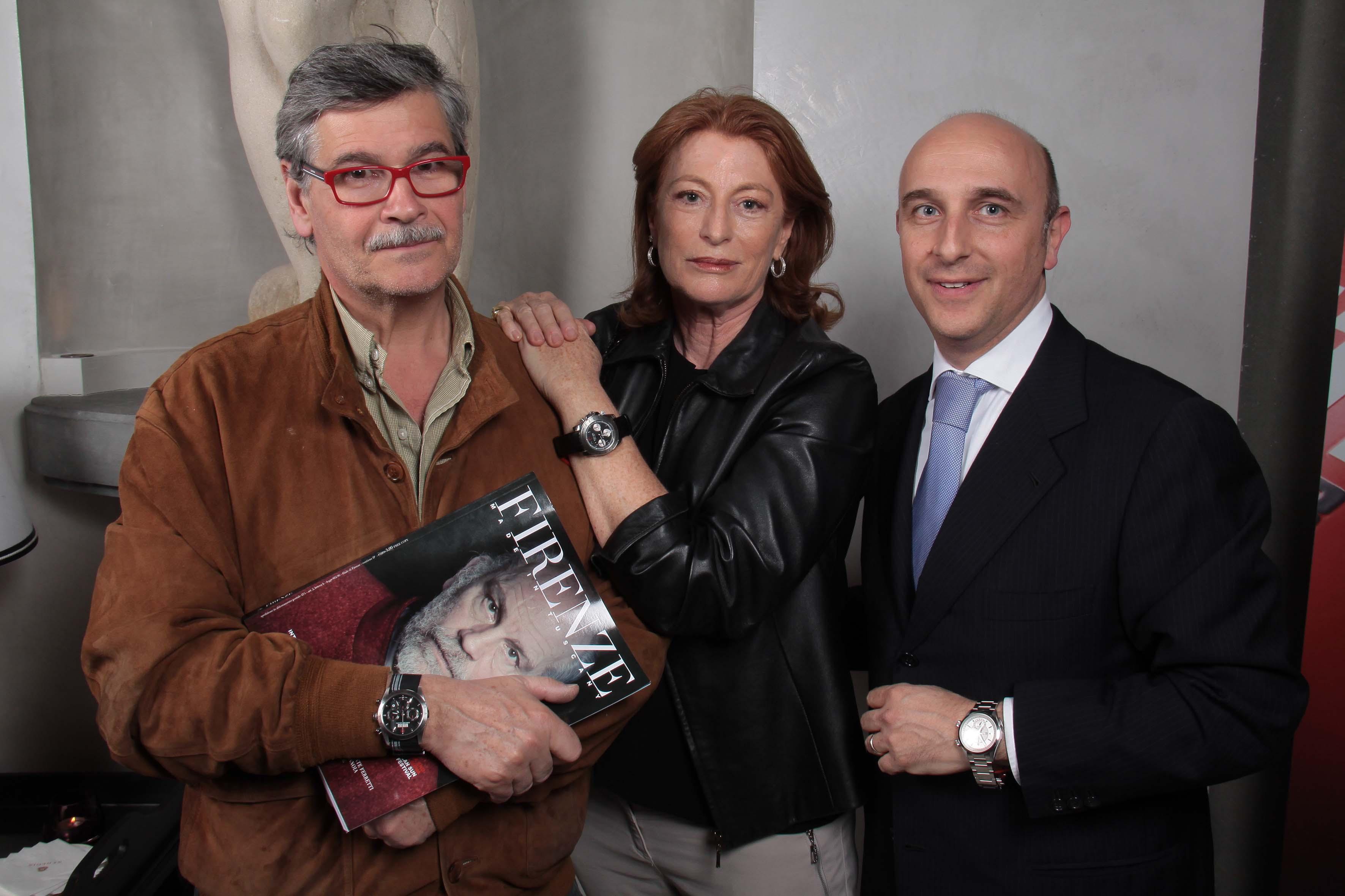 pressphoto-Firenze Serata per la presentazione della Rivista Firenze Made In Tuscany  son Tudor    Marco e Elisabetta Rogai Filippo Cassetti