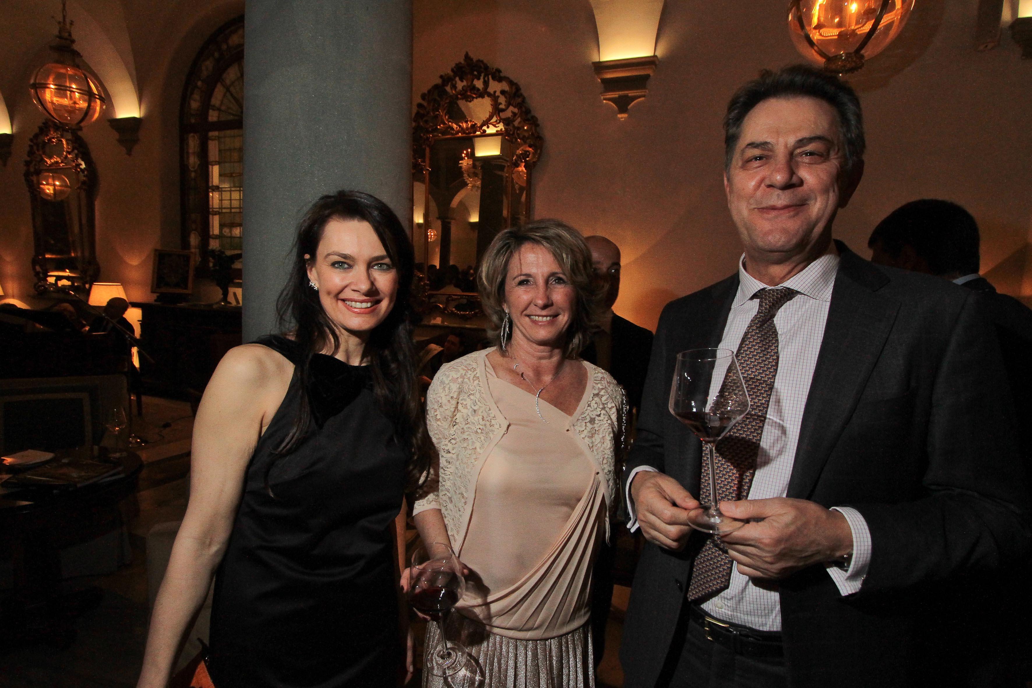 PRESSPHOTO Firenze, Hotel St Regis, serata Firenze Made in Tuscany. Nella foto Judith Otto, Marinella Fani e Valentino Bertolini Giuseppe Cabras/New Press Photo