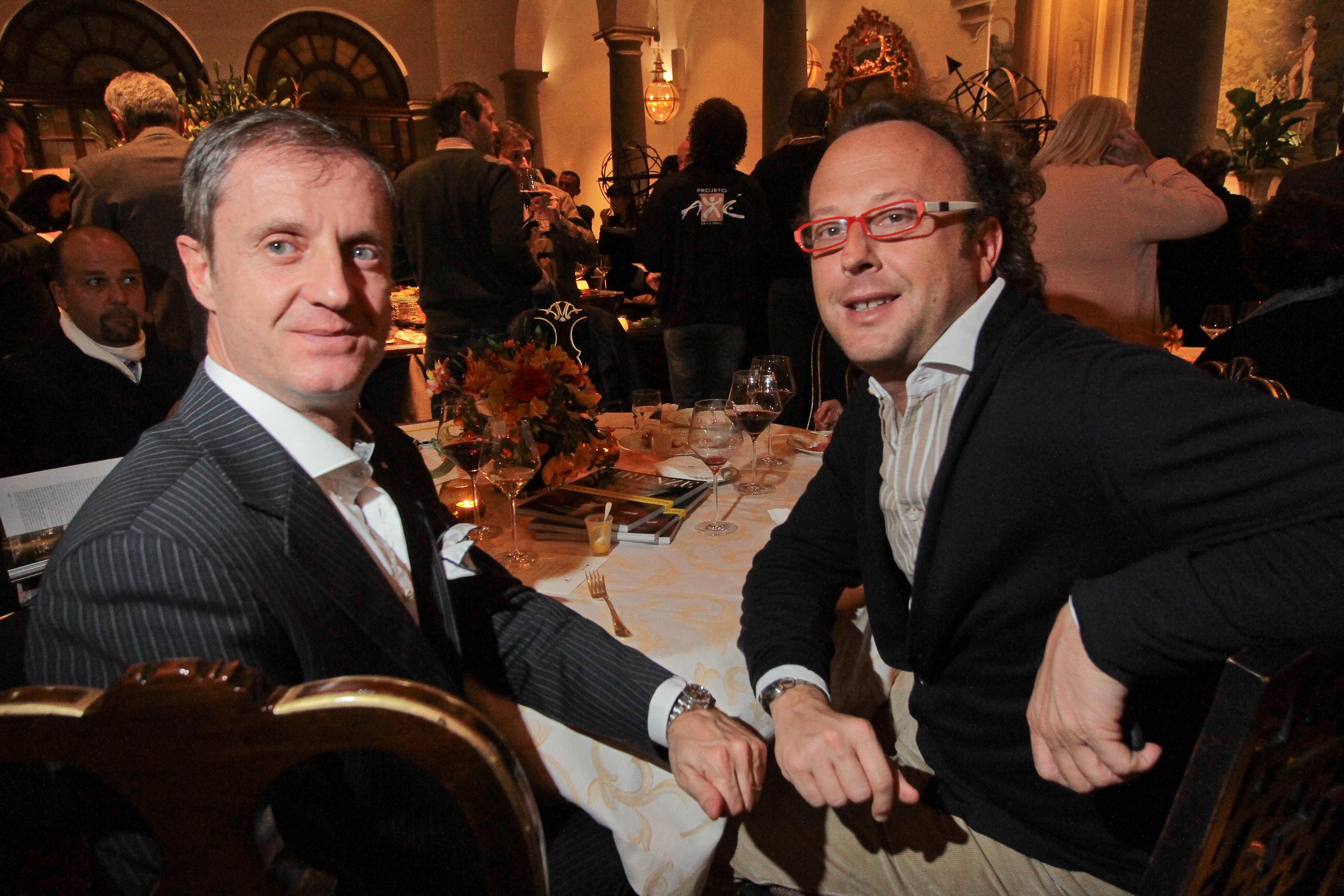 PRESSPHOTO Firenze, Hotel St Regis, serata Firenze Made in Tuscany. Nella foto Eugenio Virgillito e Enrico Bruni Giuseppe Cabras/New Press Photo