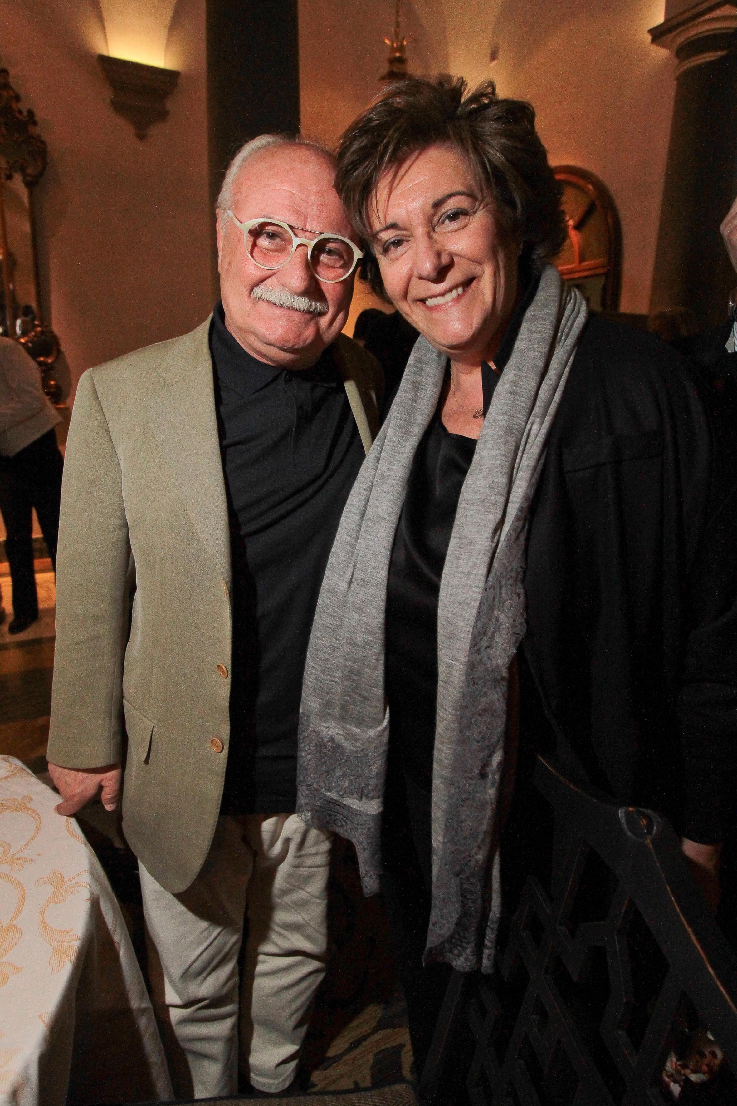 PRESSPHOTO Firenze, Hotel St Regis, serata Firenze Made in Tuscany. Nella foto Gianni Mercatali e Eva Desiderio Giuseppe Cabras/New Press Photo