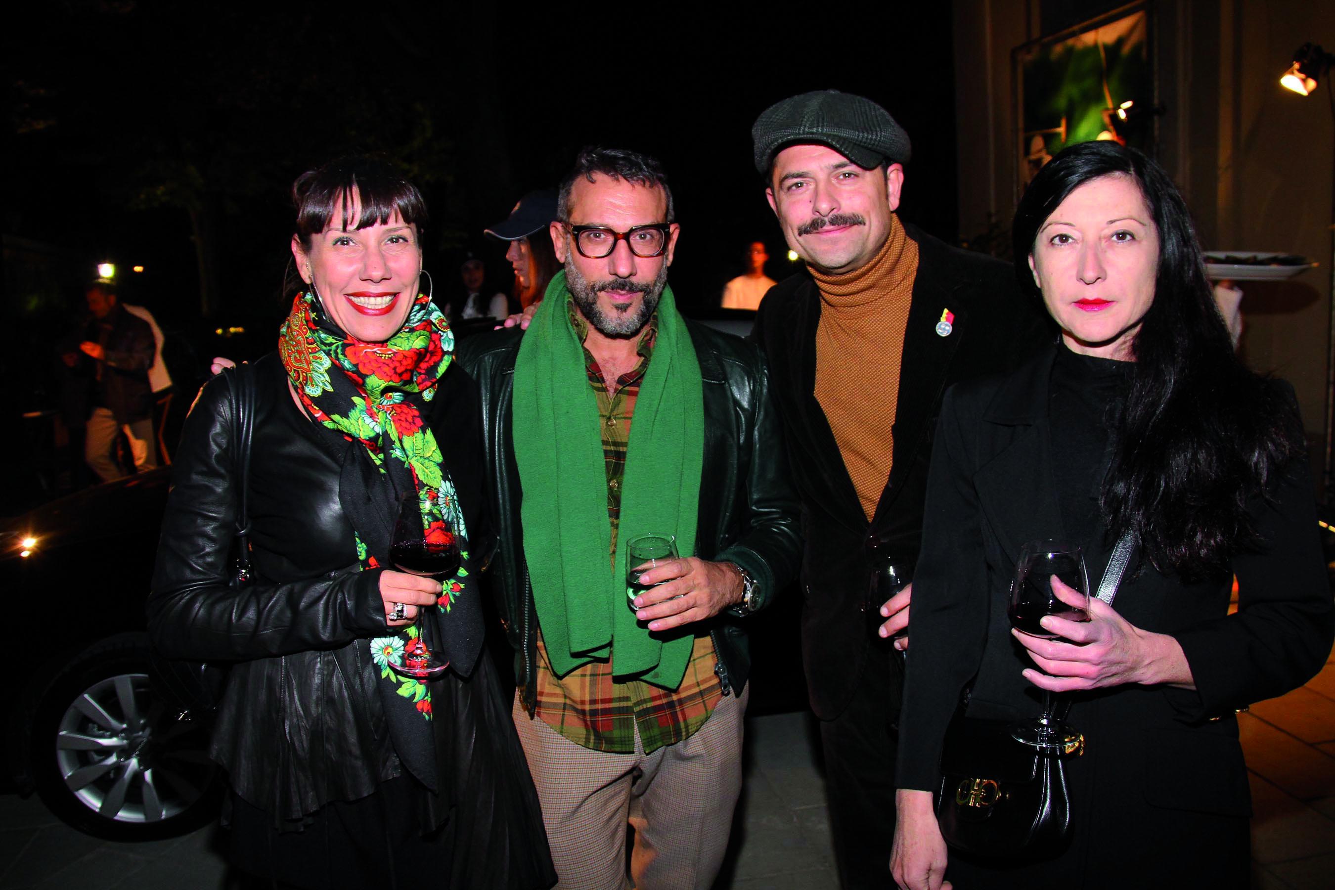 PRESSPHOTO Firenze, Festa Firenze Made in Tuscany a Villa Olmi. Nella foto Patrizia ed Elio Ferraro, Francesco Conforti e Antonella Mugnai
