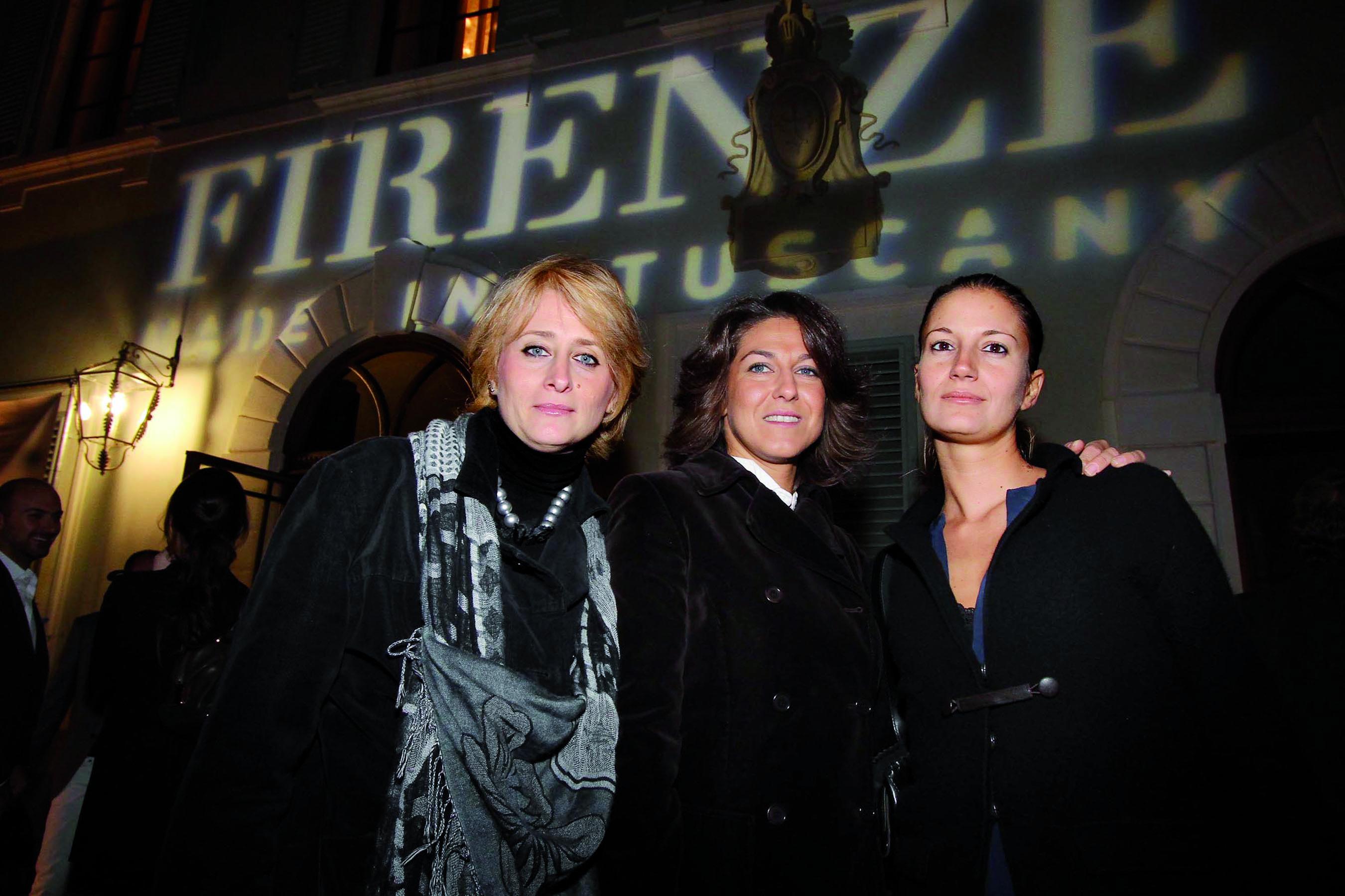 PRESSPHOTO Firenze, Festa Firenze Made in Tuscany a Villa Olmi. Nella foto Sandra Salvato, Gemma Magrini e Beba Trincherini