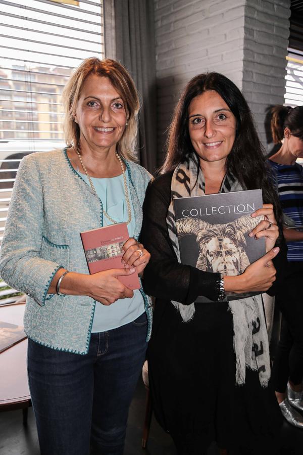 PRESSPHOTO Firenze, Caffè dell'Oro, Presentazione della guida Firenze su Misura. Nella foto Enrica Ghilardi e Daniela Zazzeri Giuseppe cabras/new pressphoto