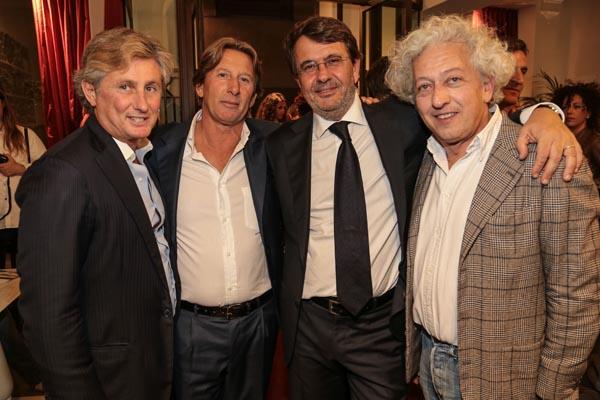 Daniele Pradè, Andrea Formigli Fendi, Marco Paolini and Roberto Nistri