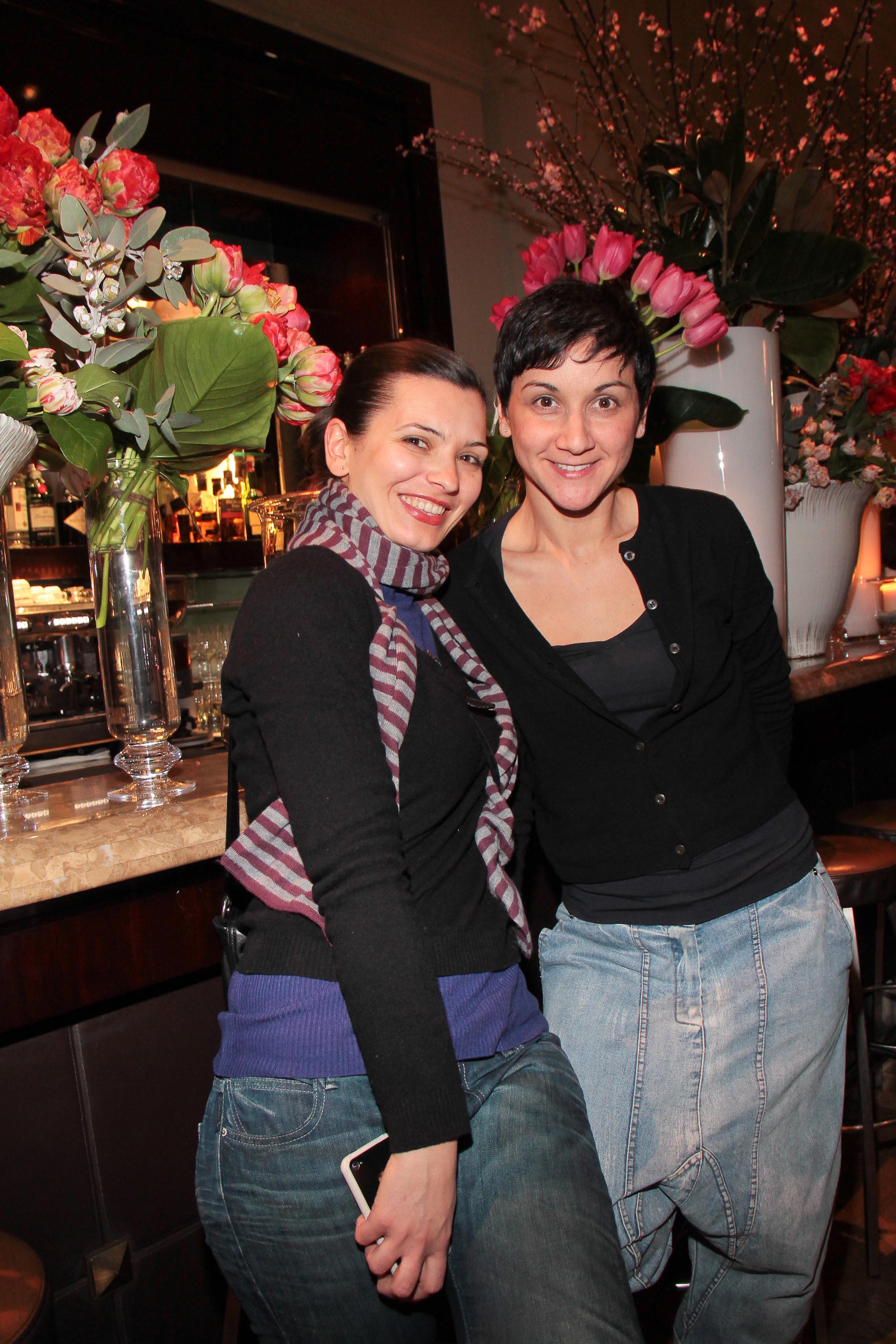 PRESSPHOTO Firenze, Hotel Savoy, inaugurazione Flower Shop Sebastian. Nella foto Beatrice Pira e Ginevra Risaliti Giuseppe Cabras/New Press Photo