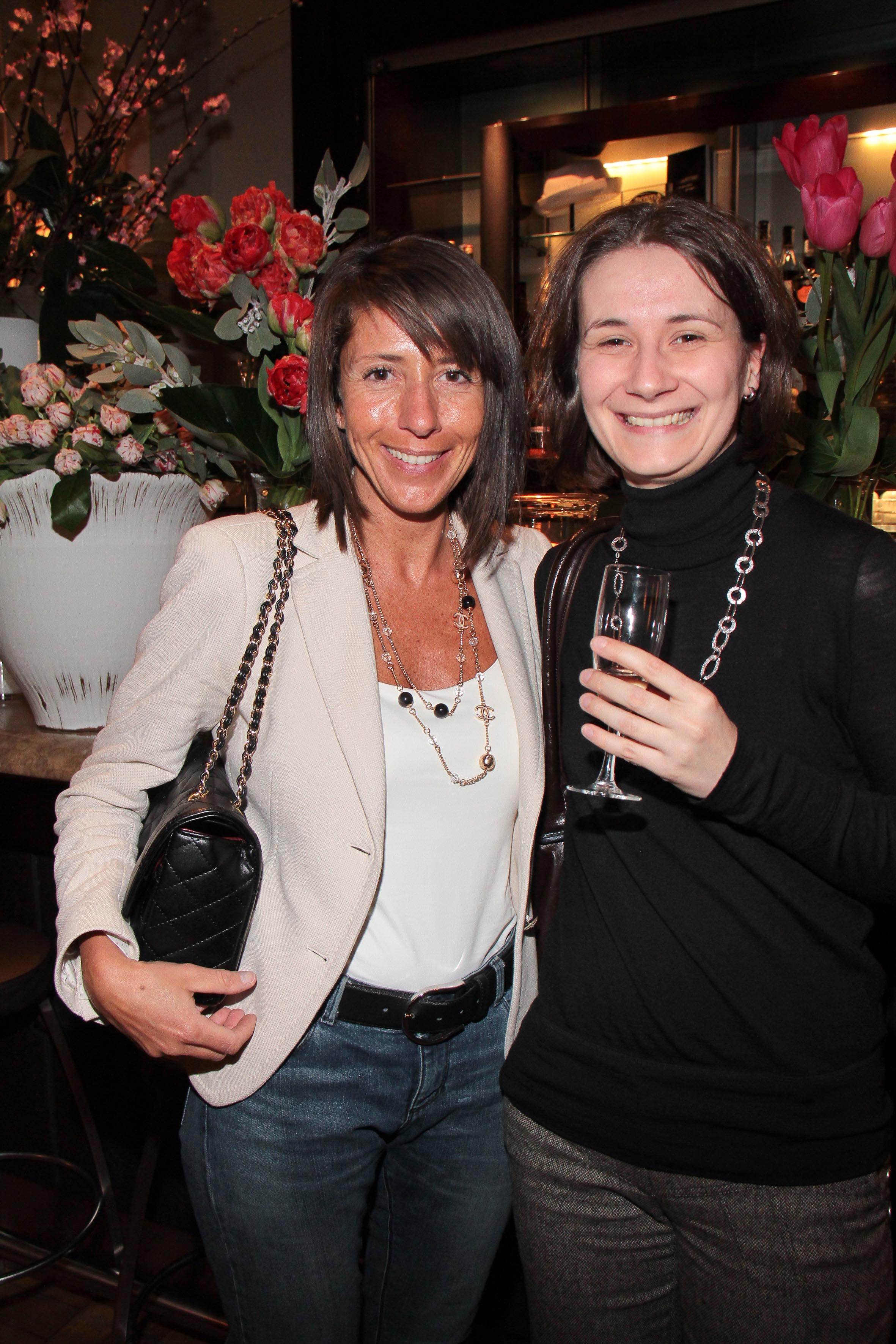 PRESSPHOTO Firenze, Hotel Savoy, inaugurazione Flower Shop Sebastian. Nella foto Mirijam Haim e Anje Geller Giuseppe Cabras/New Press Photo