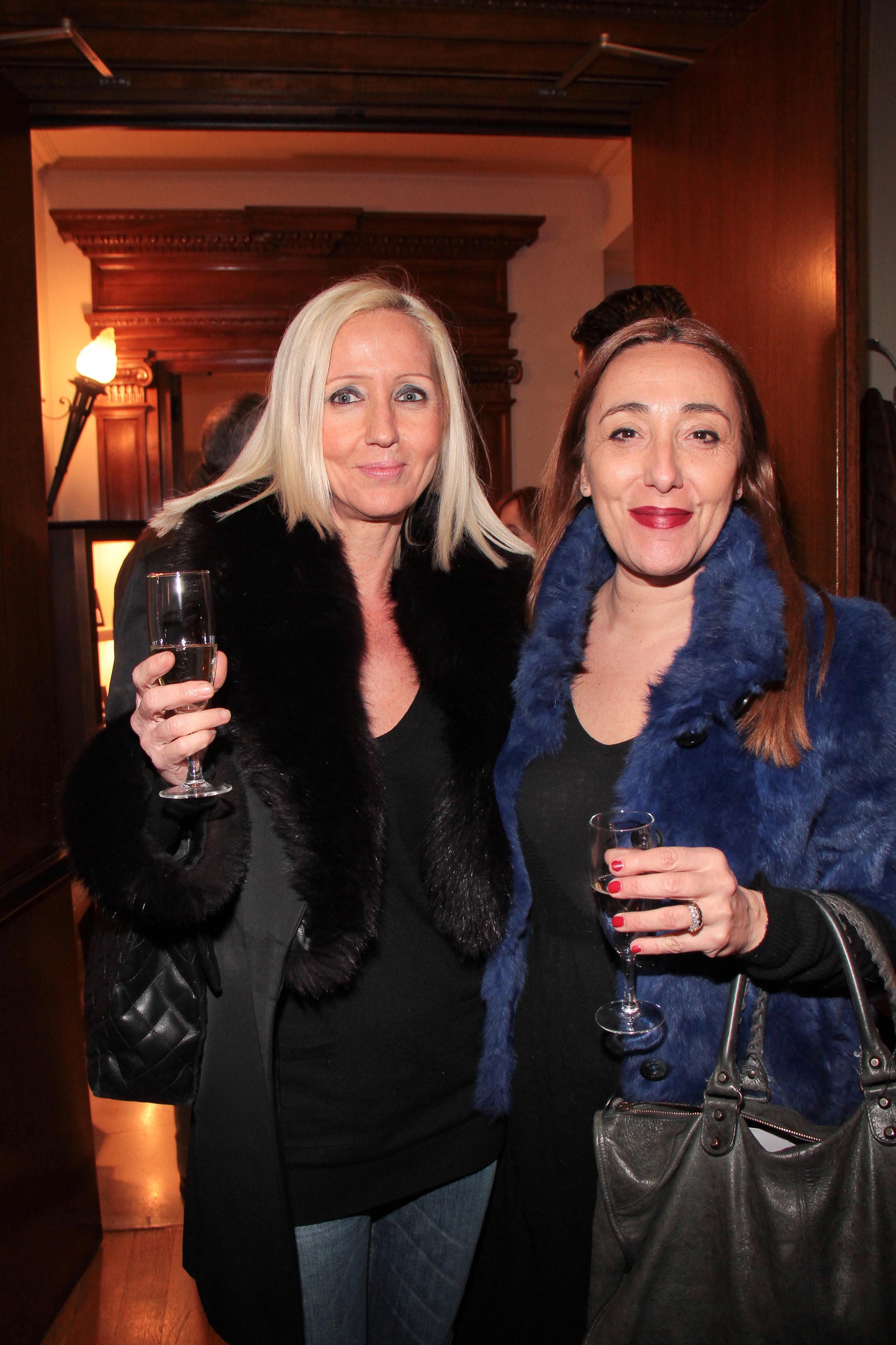 PRESSPHOTO Firenze, Hotel Savoy, inaugurazione Flower Shop Sebastian. Nella foto Silvia Randelli e Alessandra Megli Giuseppe Cabras/New Press Photo