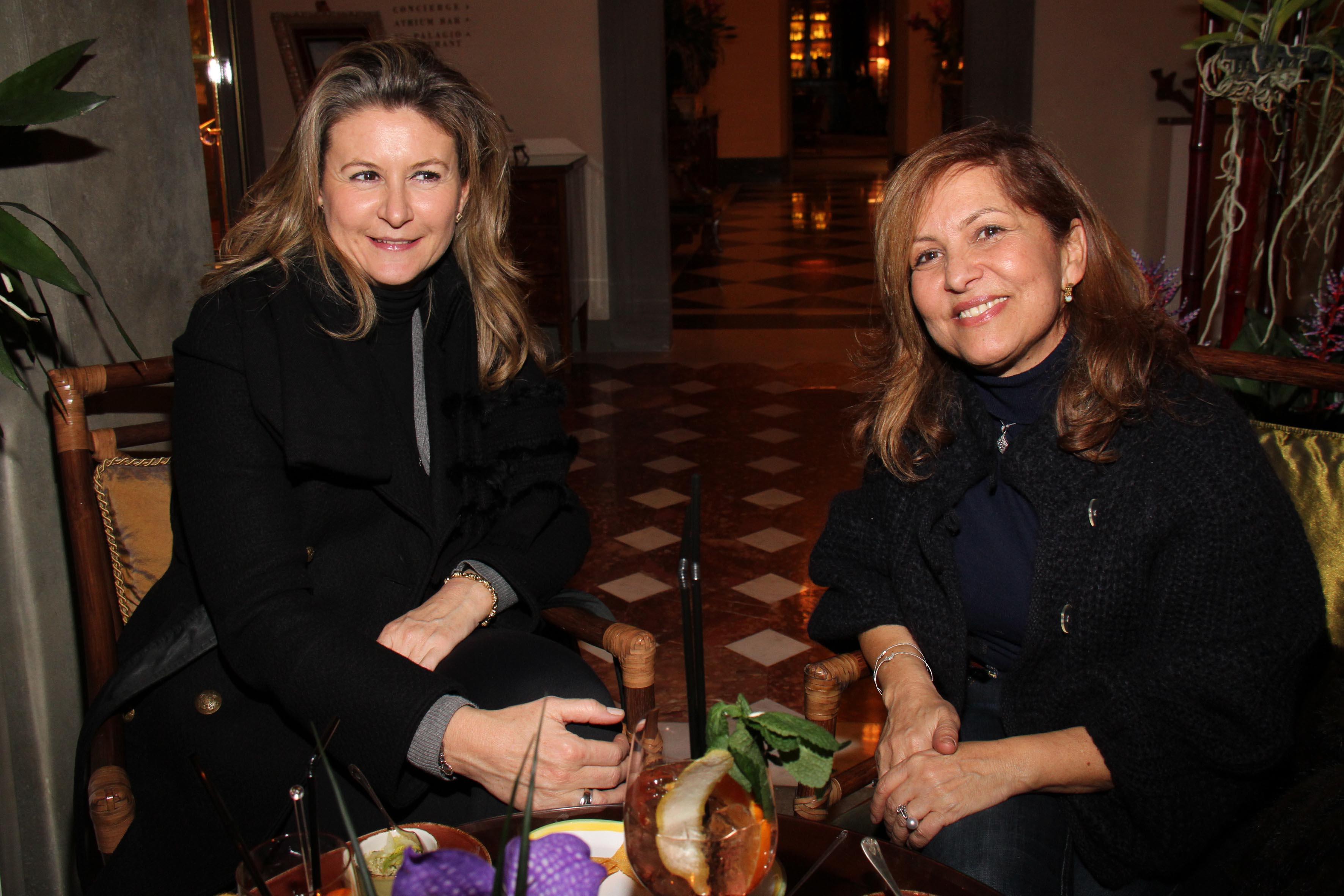 PRESSPHOTO Firenze,  Four Seasons, evento Metropolitan. Nella foto Paola Gallucci e Emma Cipollini  foto Giuseppe Cabras/New Press Photo