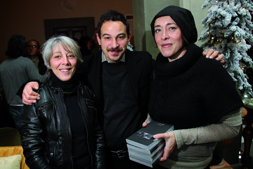 PRESSPHOTO Firenze Magazine, presentazione guida sugli artigiani della citt‡ al Four Seasons: Rita Rinaldi, Dario Garofalo e Maria Giannini