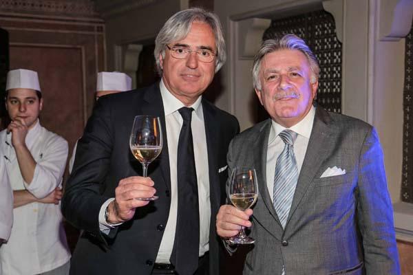 il sindaco di Forte dei Marmi Umberto Buratti e il direttore del Four Seasons Patrizio Cipollini