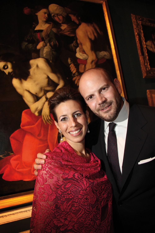 PRESSPHOTO  Firenze Magazine, Galleria d'Arte in via Maggio; federico gandolfi e daisy diaz (moglie)