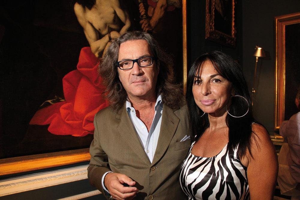 PRESSPHOTO  Firenze Magazine, Galleria d'Arte in via Maggio; giancarlo gentilini e leone maria grazia