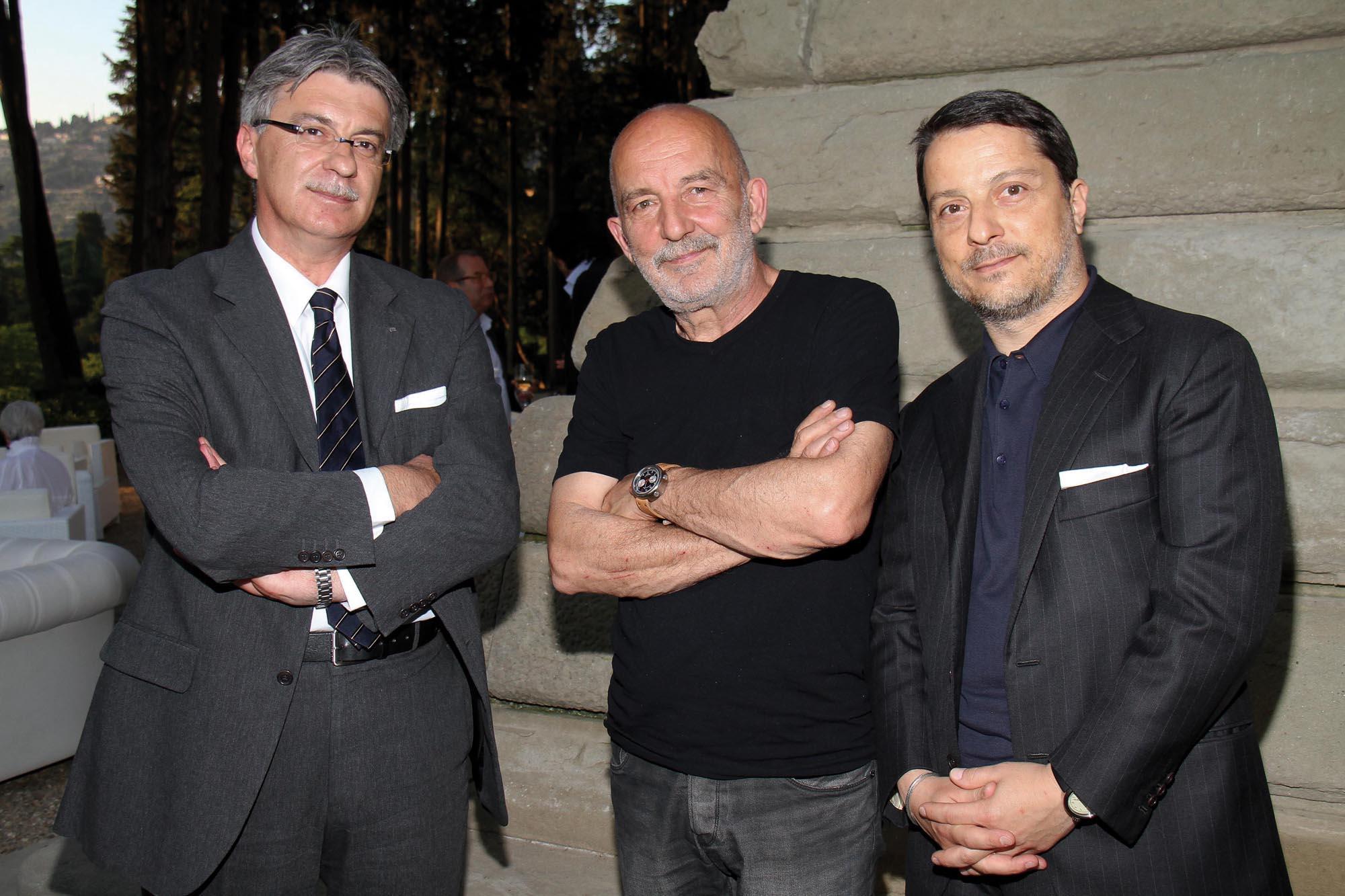 PRESSPHOTO Firenze, Salviatino, serata Giuliano Mazzuoli. Nella foto Lorenzo Barducci, Vezio Manneschi e Giuliano Mazzuoli