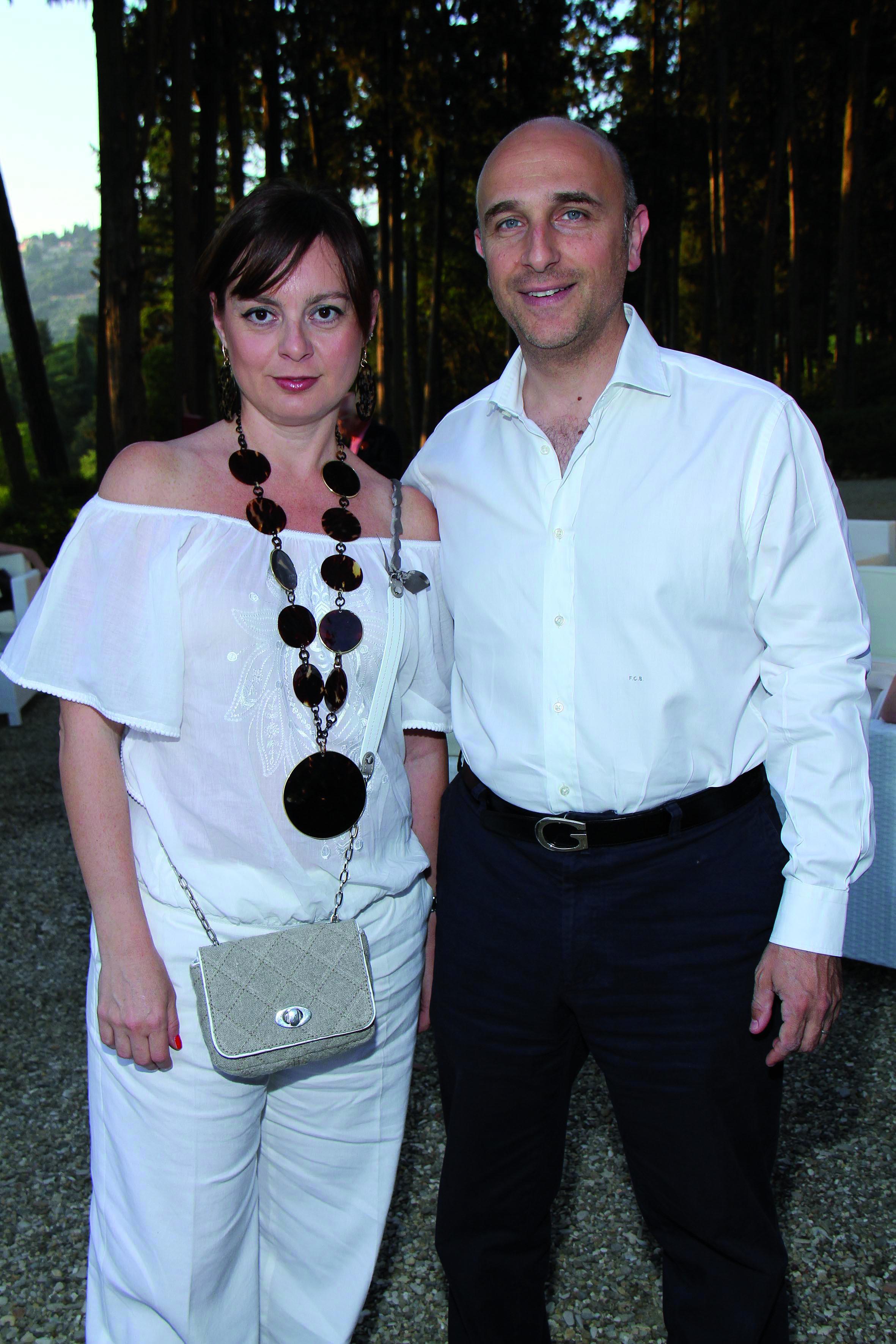 PRESSPHOTO Firenze, Salviatino, serata Giuliano Mazzuoli. Nella foto Filippo e Raffaella Cassetti
