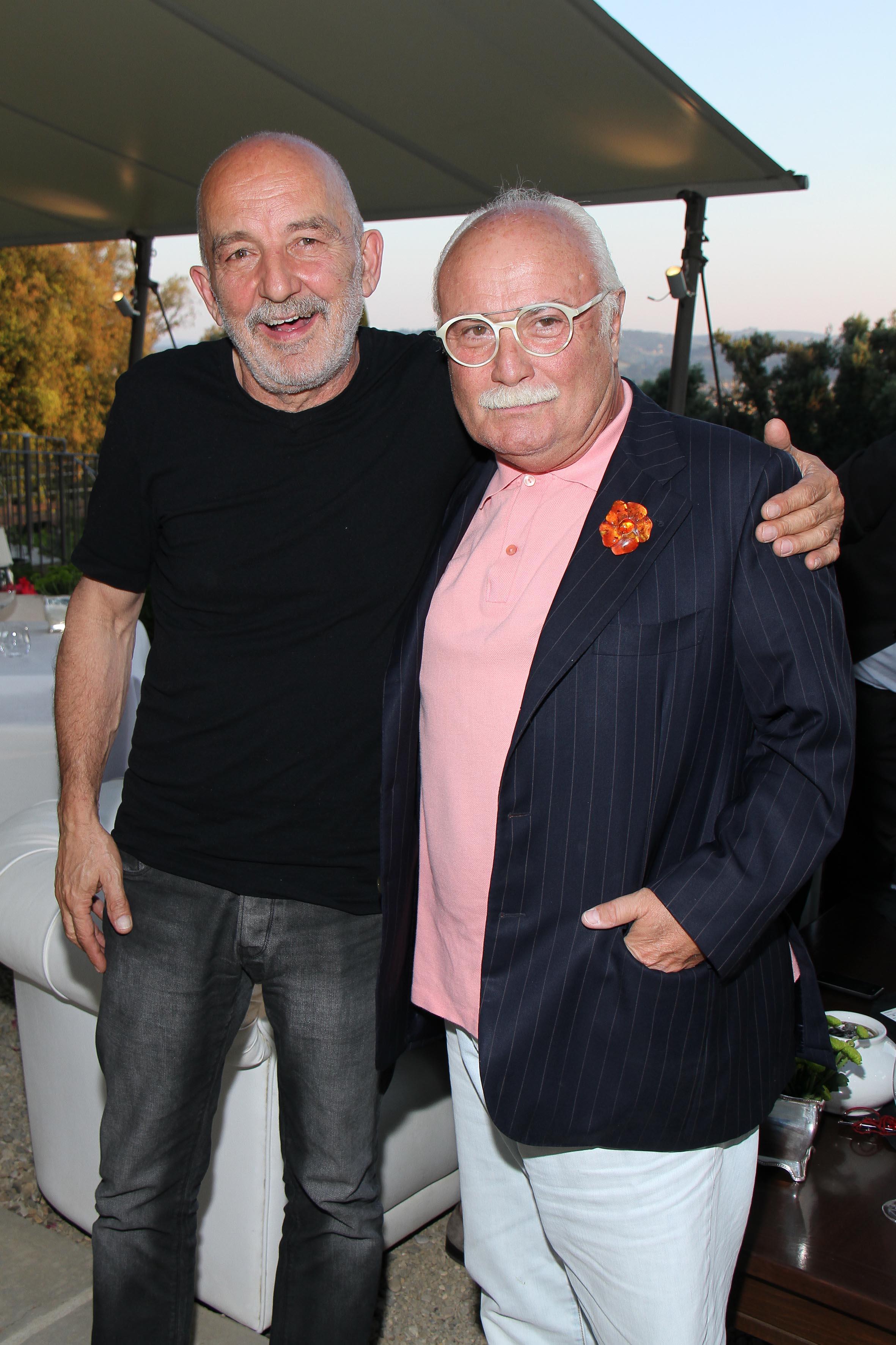 PRESSPHOTO Firenze, Salviatino, serata Giuliano Mazzuoli. Nella foto Giuliano Mazzuoli e Gianni Mercatali