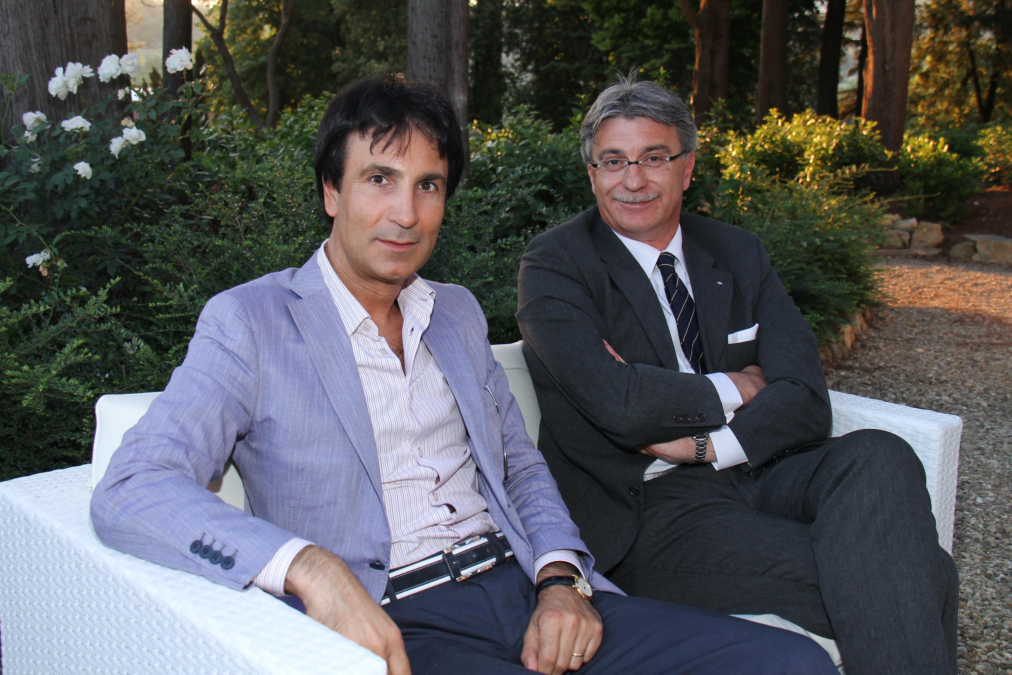 PRESSPHOTO Firenze, Salviatino, serata Giuliano Mazzuoli. Nella foto Marco Citraro e Vezio Manneschi