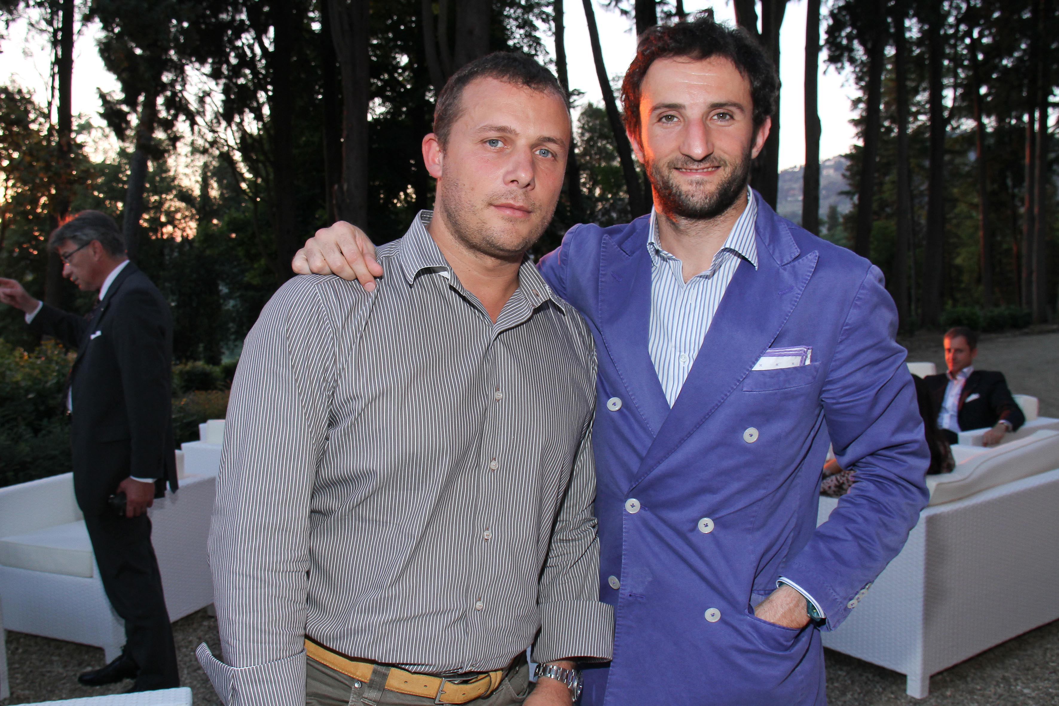 PRESSPHOTO Firenze, Salviatino, serata Giuliano Mazzuoli. Nella foto Lorenzo Fiorini e Lapo Bonechi