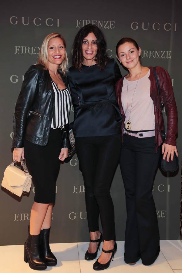 PRESSPHOTO Firenze, Gucci. Nella foto Costanza Restelli, Carlotta Lana e Letizia Migliorini  Giuseppe cabras/new pressphoto