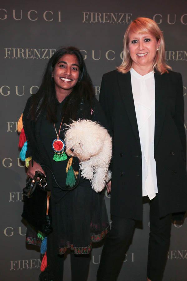 PRESSPHOTO Firenze, Gucci. Nella foto Caterina Mariani e Novella Ravenni  Giuseppe cabras/new pressphoto
