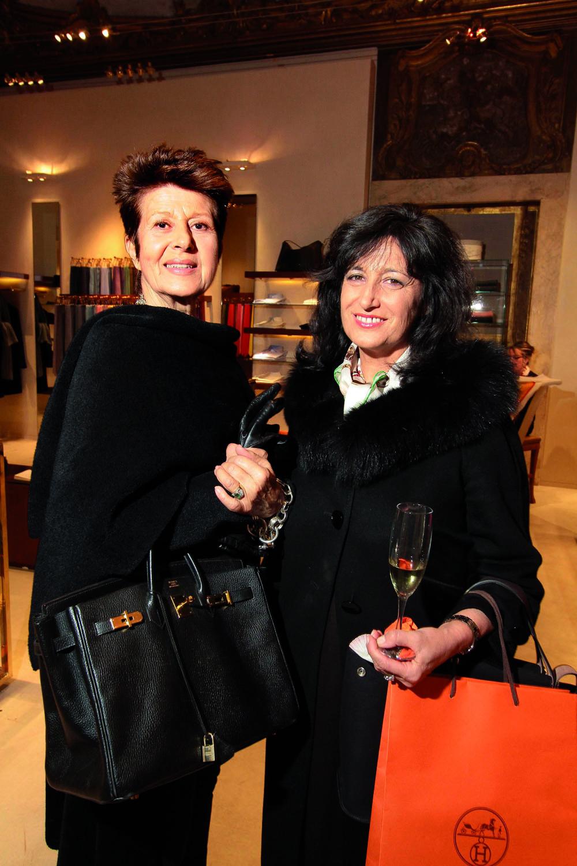 PRESSPHOTO. Firenze, Hermes. Nella foto Anna Federici e Anna Buccianti foto Giuseppe Cabras/New Press Photo