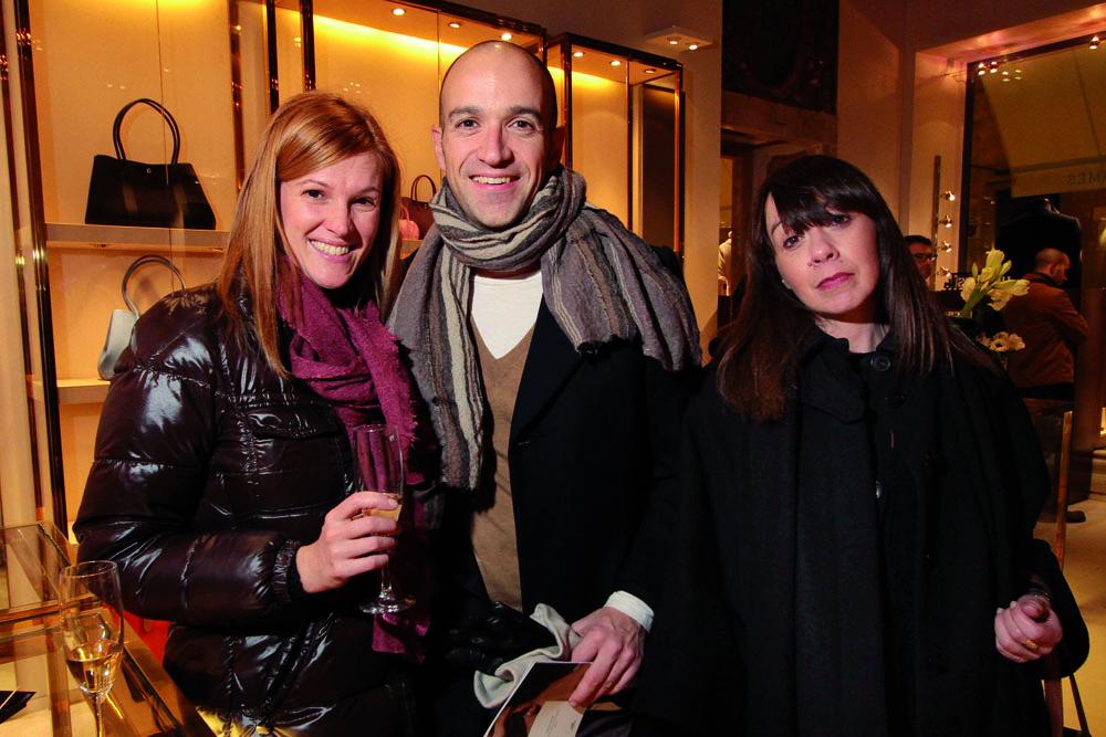 PRESSPHOTO. Firenze, Hermes. Nella foto Carla Barion, Laura Tortoli e Matteo Pacilio foto Giuseppe Cabras/New Press Photo