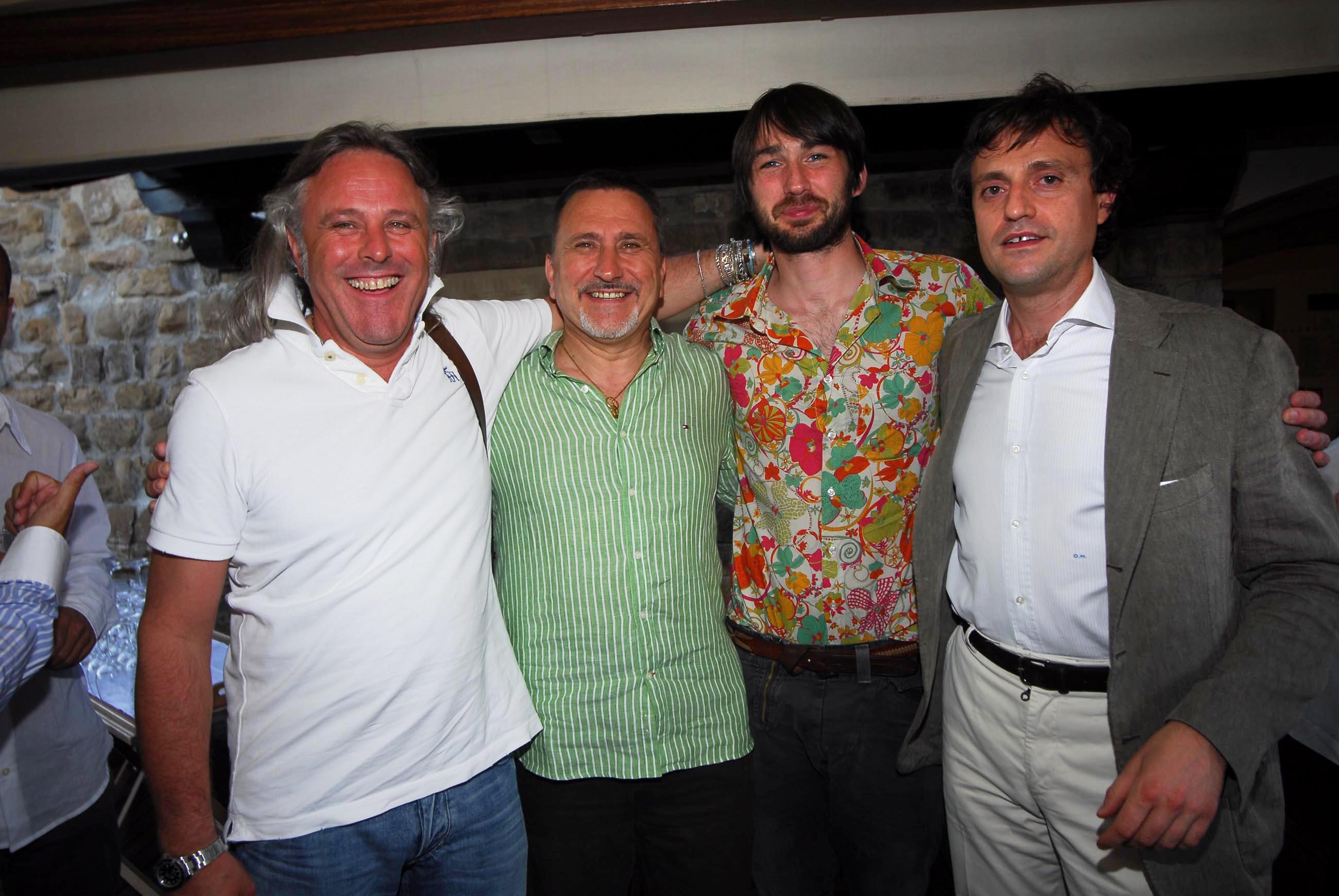 PRESSPHOTO  Firenze, Hotel Continentale. Nella foto Renzo e Gaetano Rancan, James Walley e Ducio Mannucci