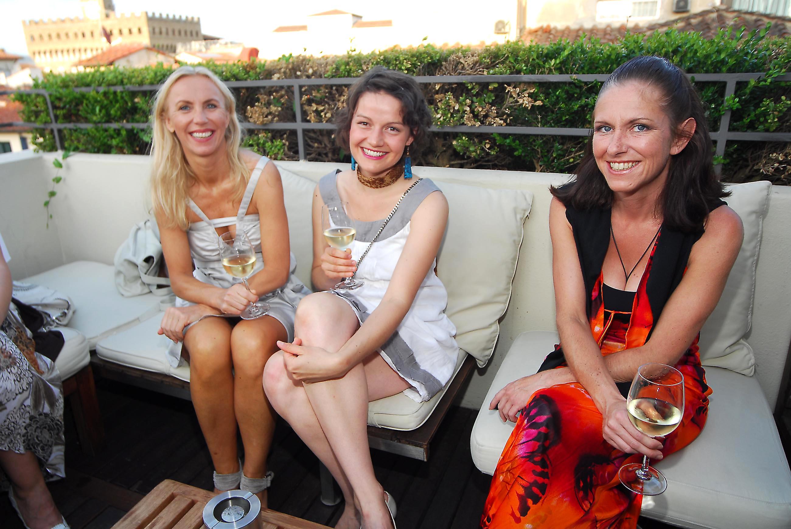 PRESSPHOTO  Firenze, Hotel Continentale. Nella foto Anja Rieger, Brigitte Ried e Edith Wollek