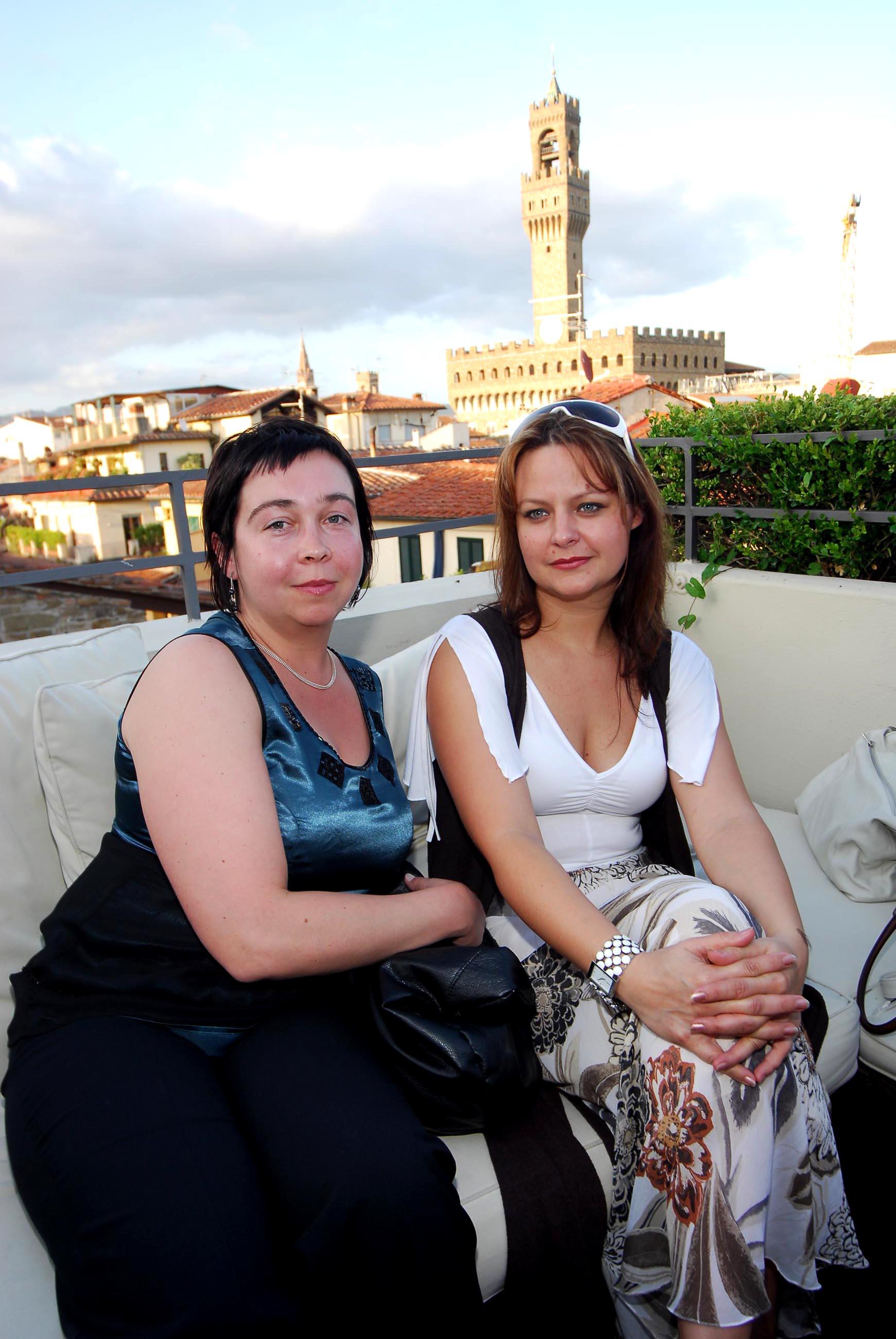 PRESSPHOTO  Firenze, Hotel Continentale. Nella foto Raminta Nemirskiene e Jolita Rutkanskiene