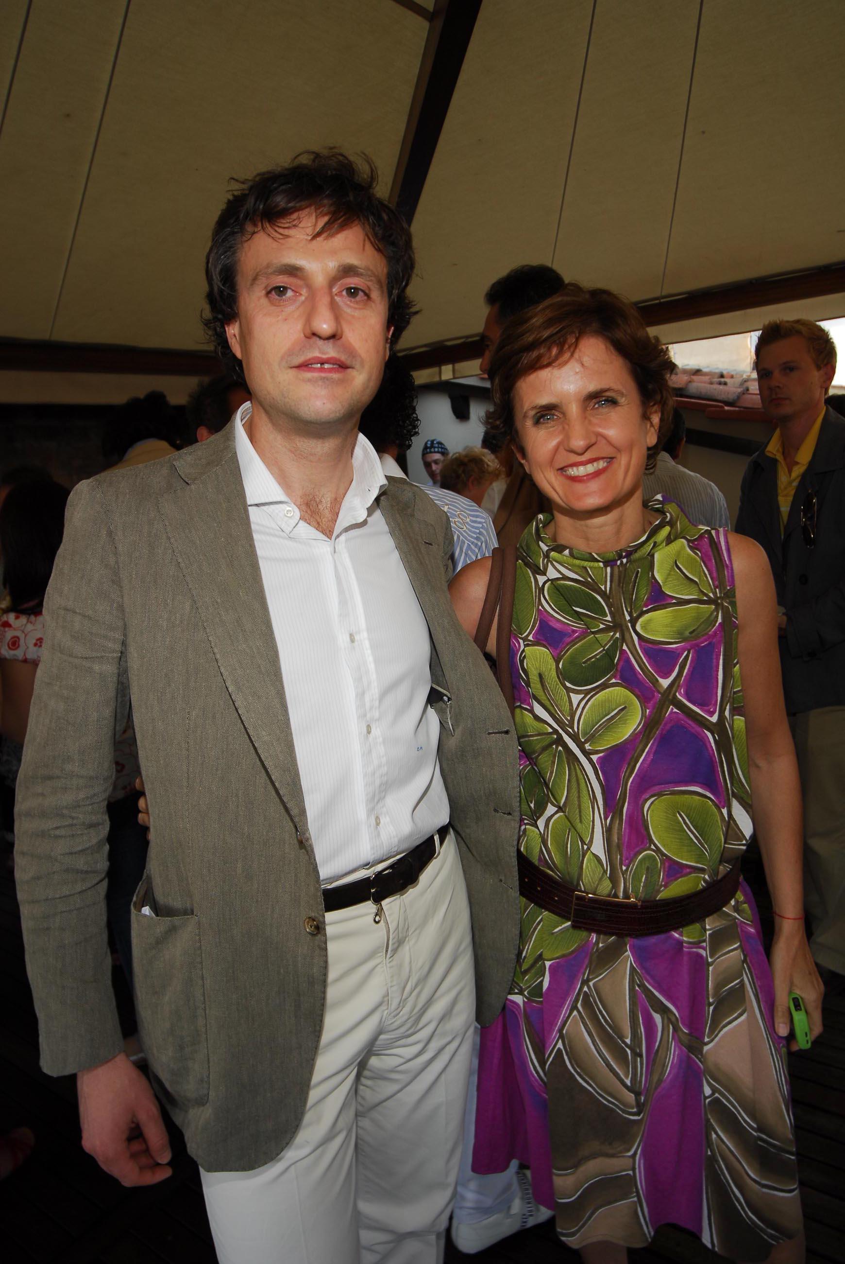 PRESSPHOTO  Firenze, Hotel Continentale. Nella foto Duccio Mannucci e Marina Spadafora