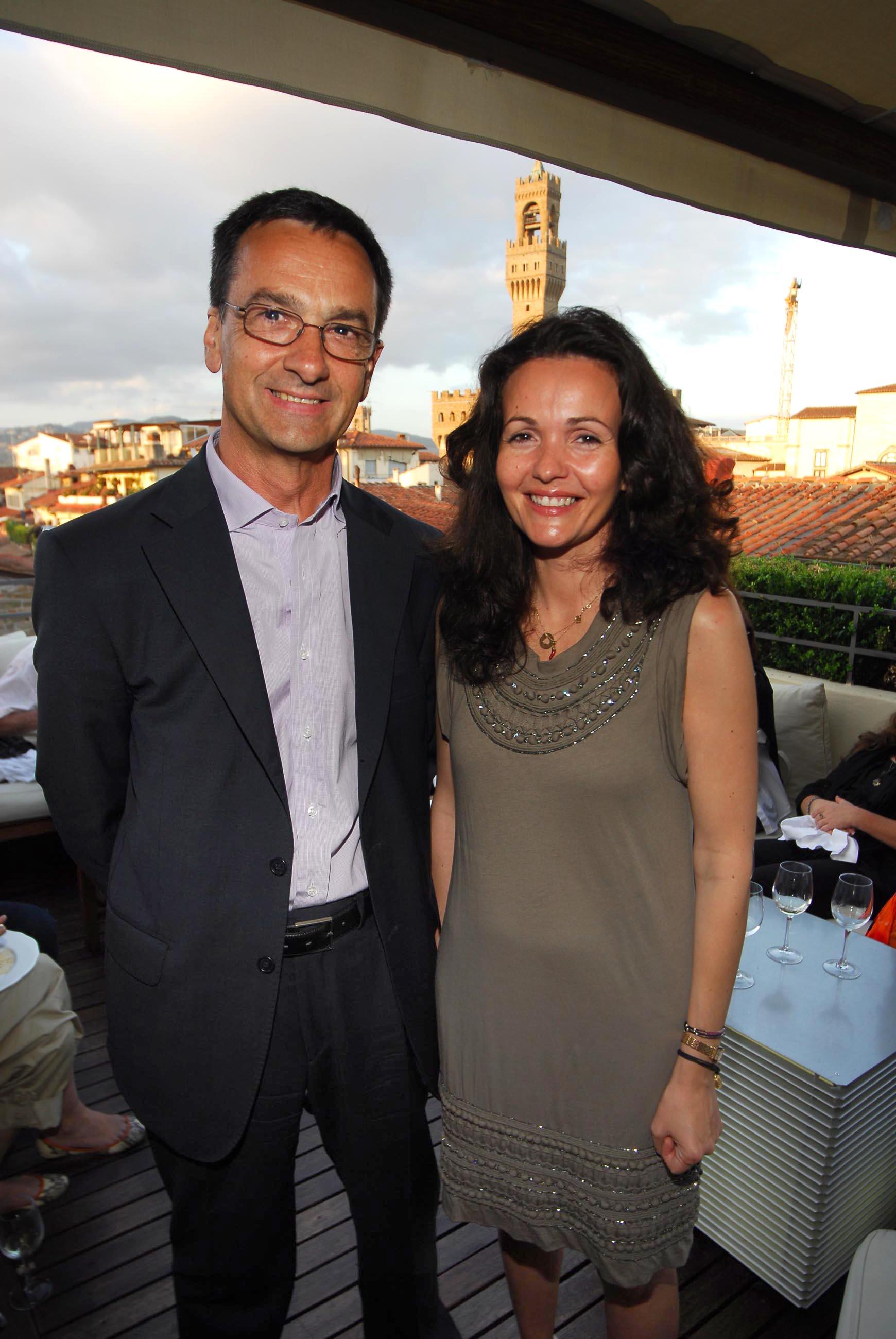 PRESSPHOTO  Firenze, Hotel Continentale. Nella foto Giancarlo Carlesi e Ilaria Taddeucci Sassolini