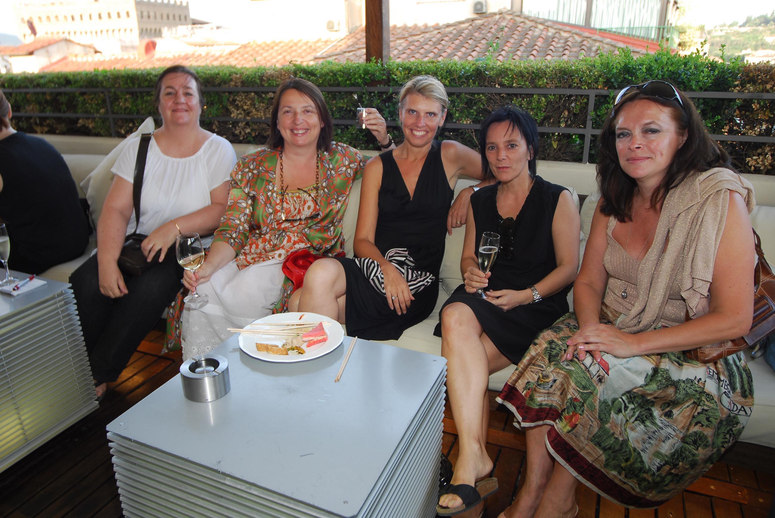 PRESSPHOTO  Firenze, Hotel Continentale. Nella foto ANn Coppens, Sofie Mattkys, Anduck Robyn, Annalenc, Kriste Rommen