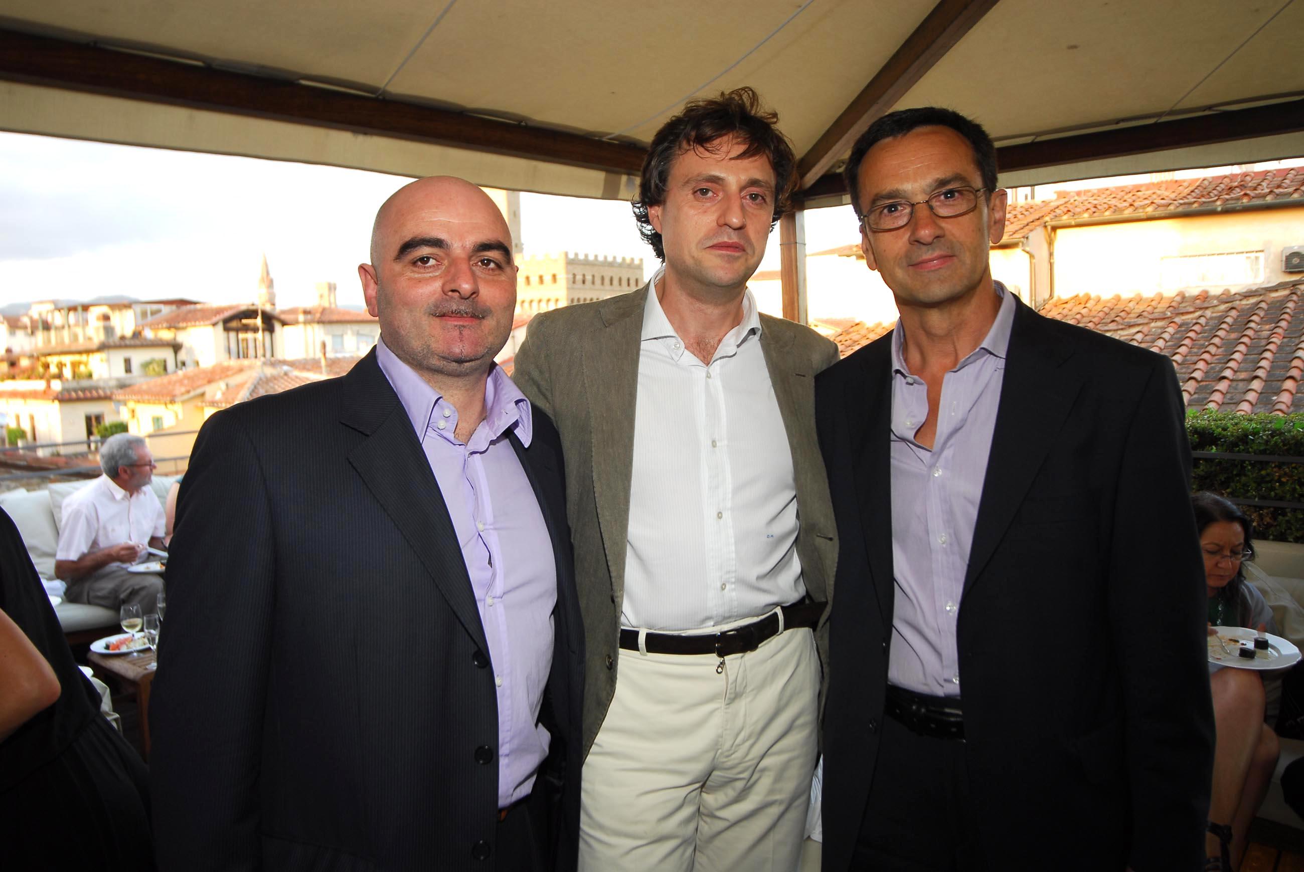 PRESSPHOTO  Firenze, Hotel Continentale. Nella foto Duccio Mannucci con Francesco Morabito e Giancarlo Carlesi