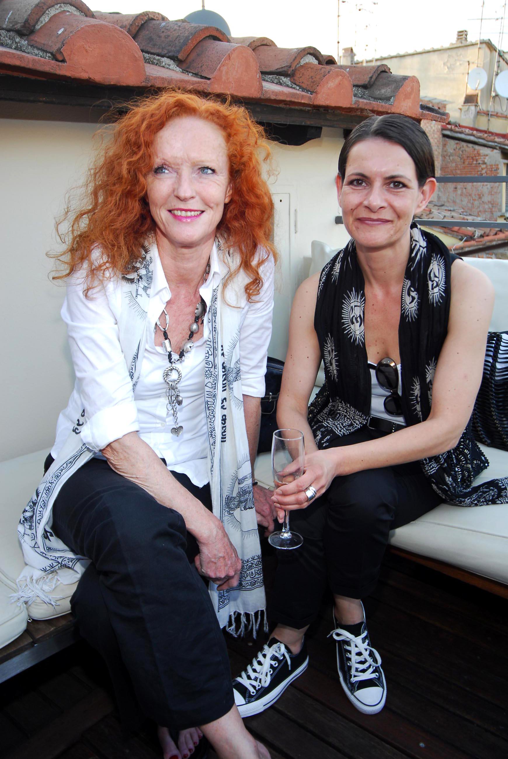 PRESSPHOTO  Firenze, Hotel Continentale. Nella foto Annette Heiber e Evelin Bueker