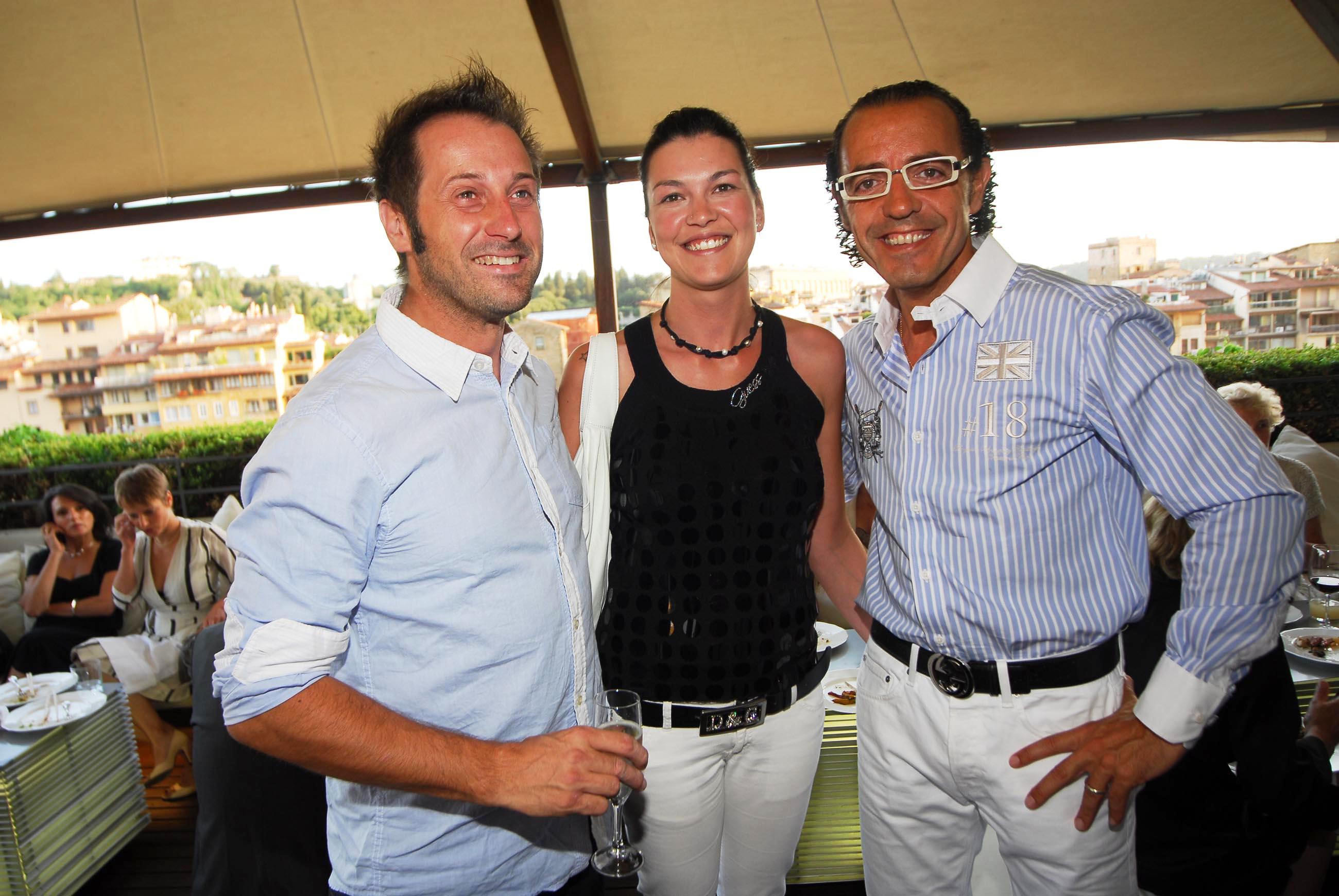 PRESSPHOTO  Firenze, Hotel Continentale. Nella foto Jordi Carol, Patricia Stack e Juan Tuset