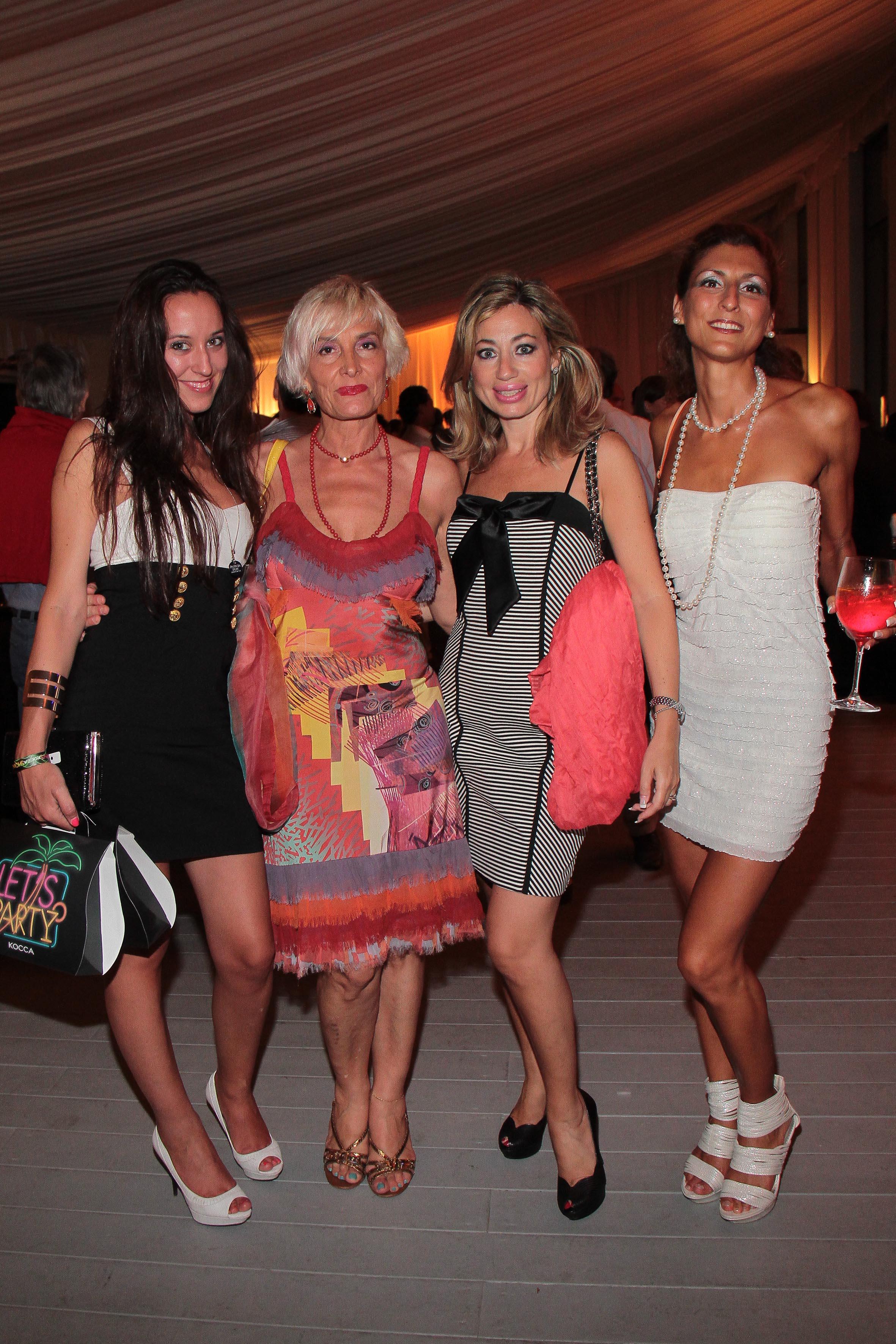 PRESSPHOTO Firenze, LOFT, evento Kocca. Nella foto Marta Zorio, Monica Berti, Simona Naldini, Eleonora Guidoni giuseppe cabras/new press photo