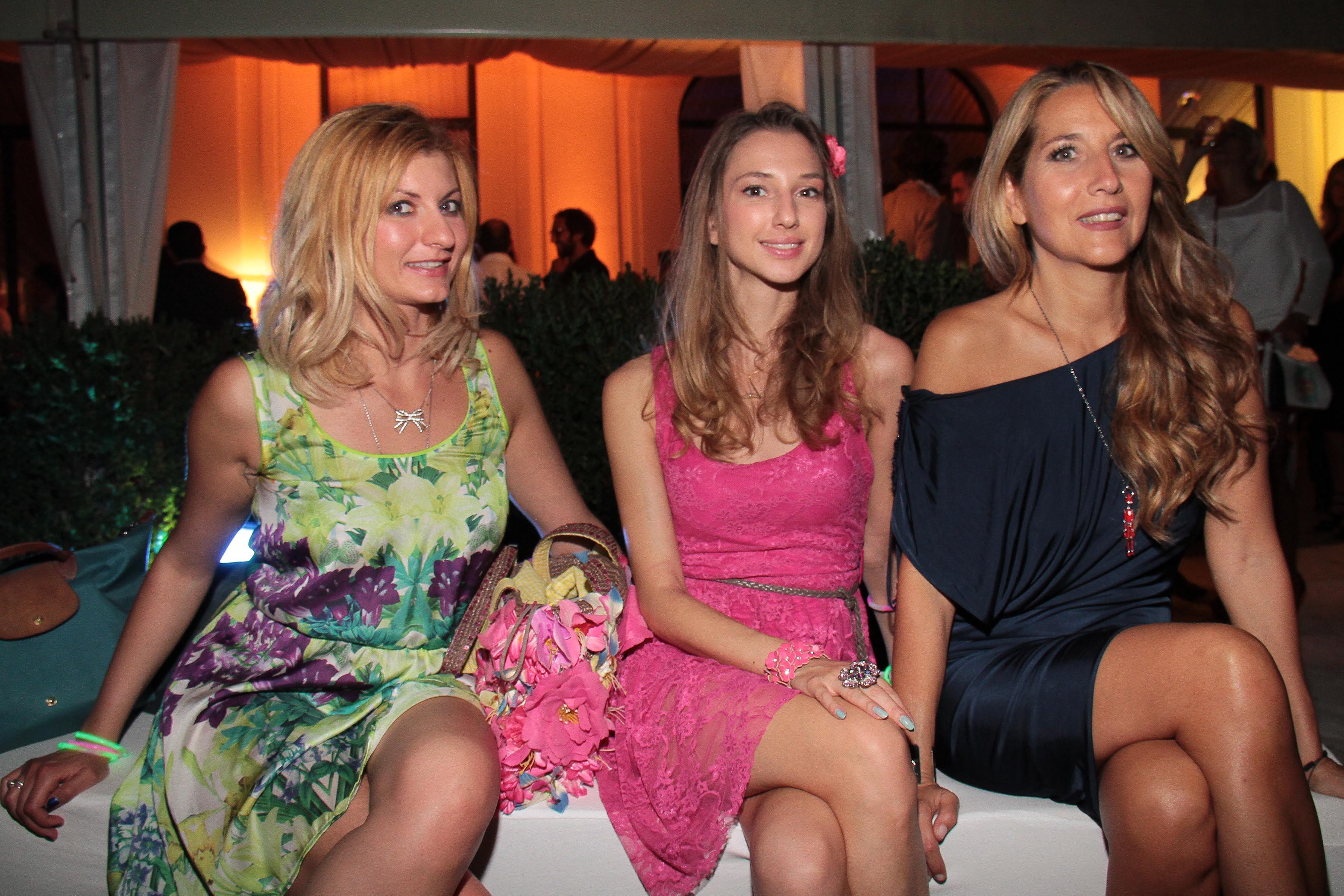 PRESSPHOTO Firenze, LOFT, evento Kocca. Nella foto Priscilla Lagioia, Valentina Nessi e Jo Squillo giuseppe cabras/new press photo