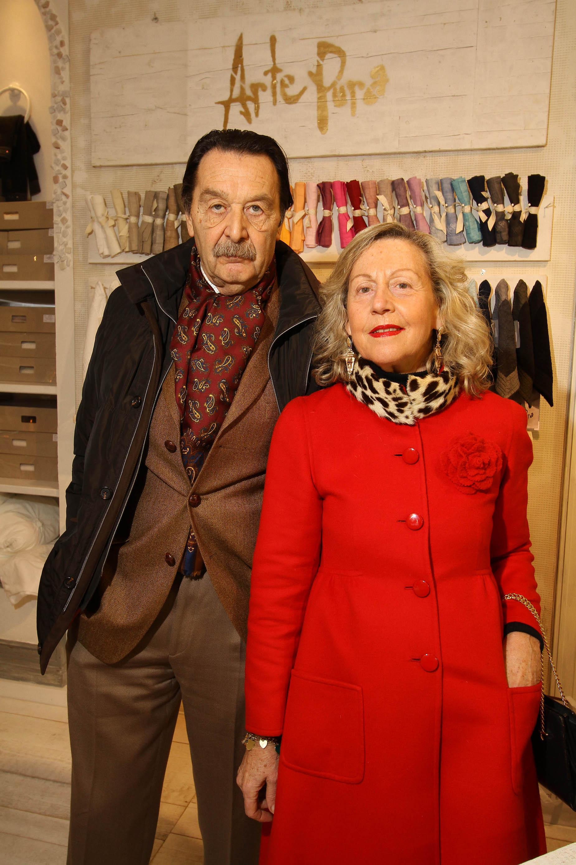 PRESSPHOTO Firenze, La Galleria. Nella foto Roberto Goriani e Gabriella Puliti