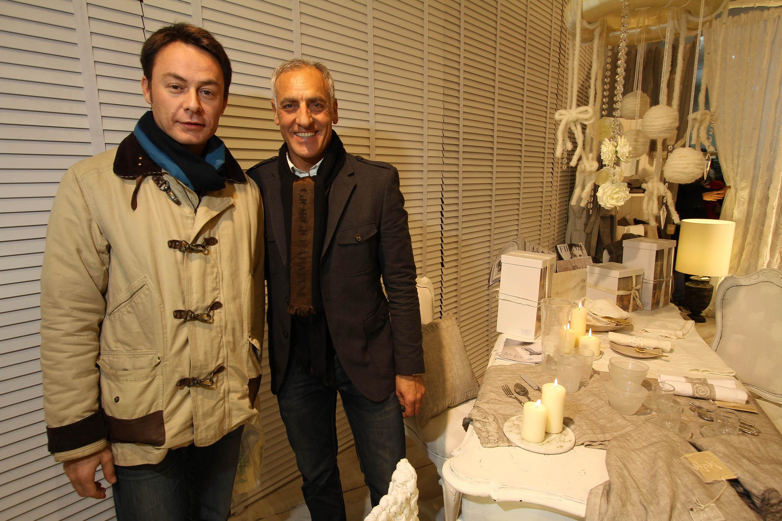 PRESSPHOTO Firenze, La Galleria. Nella foto Nicola Cesàro e Filippo Di Teodoro