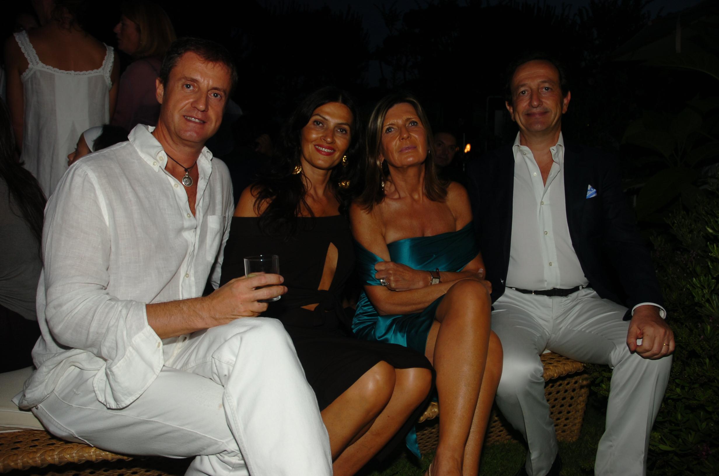 Eugenio Virgillito, Paola Baggiani, Anna e Gianni Sismondi